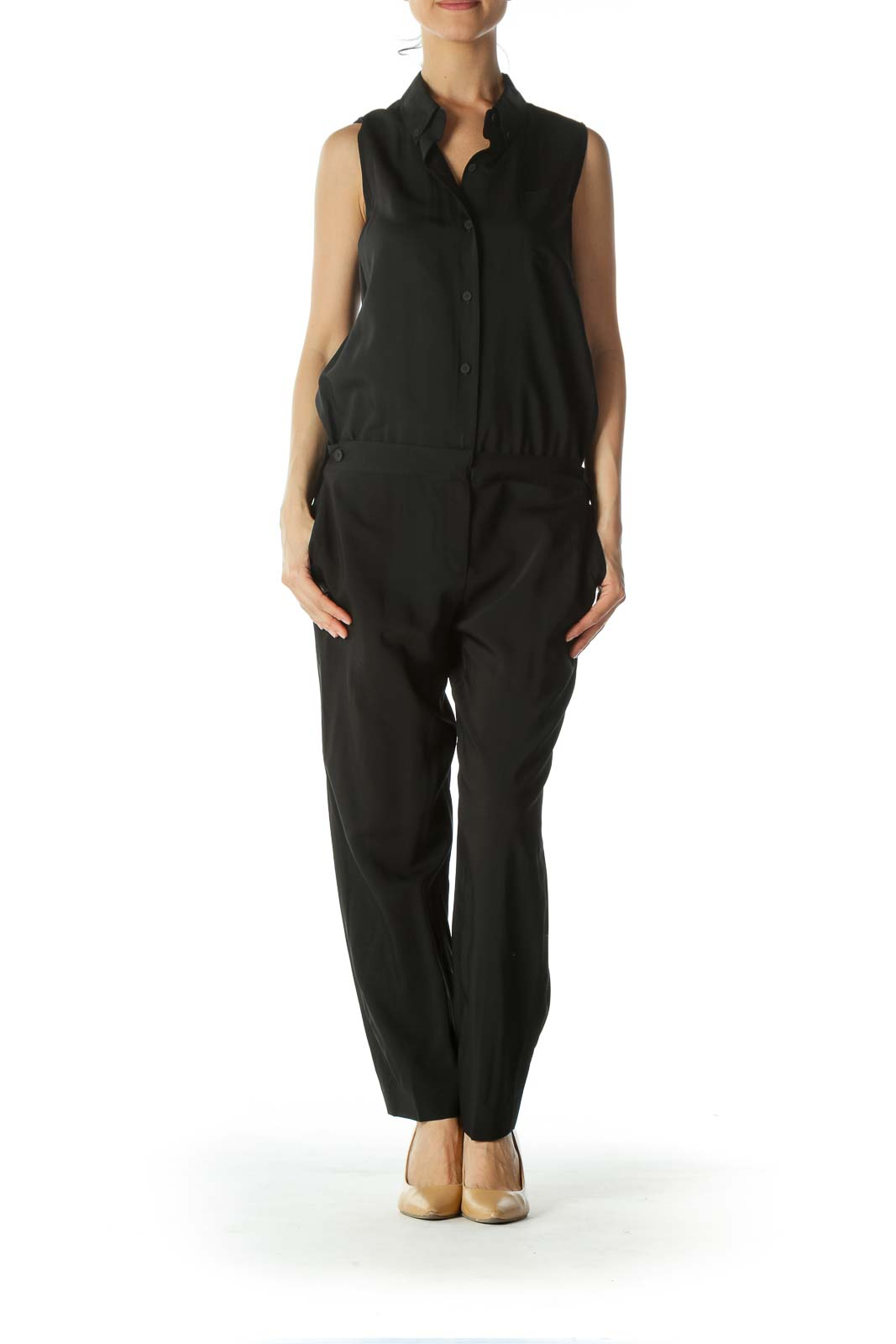 Black Sleeveless Jumpsuit