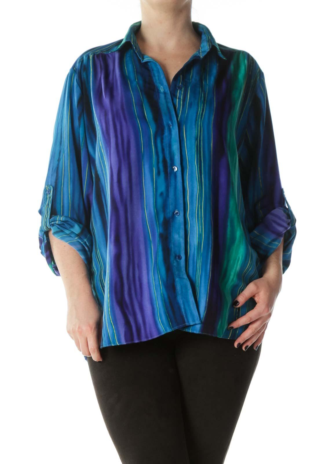 Multicolored Striped Buttoned Shirt