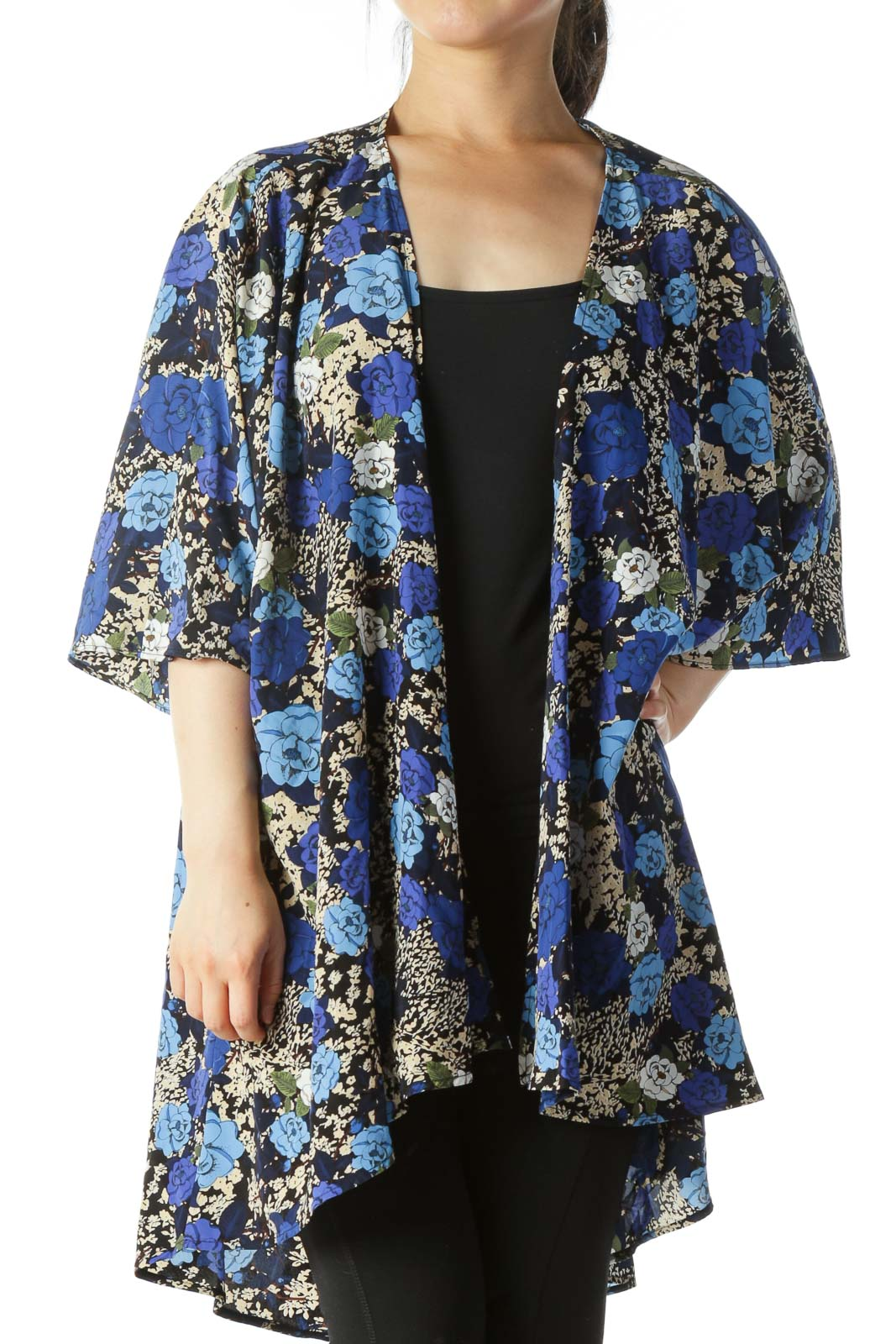 Multicolored Floral-Print Light-Weight Cardigan