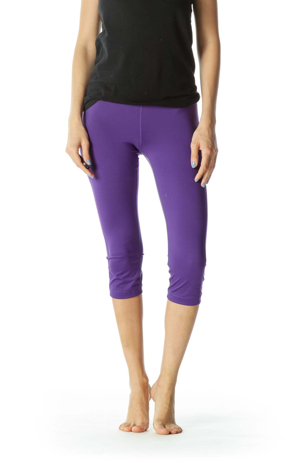 Purple/Pink Monogrammed Cropped Activewear Leggings