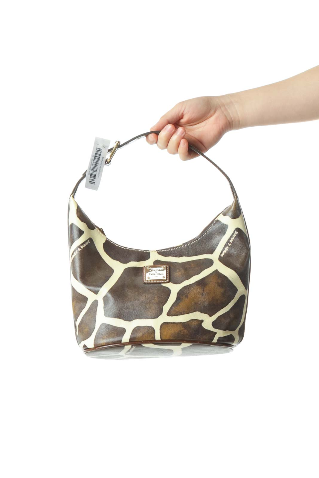Black Gold Animal Print Shoulder Bag