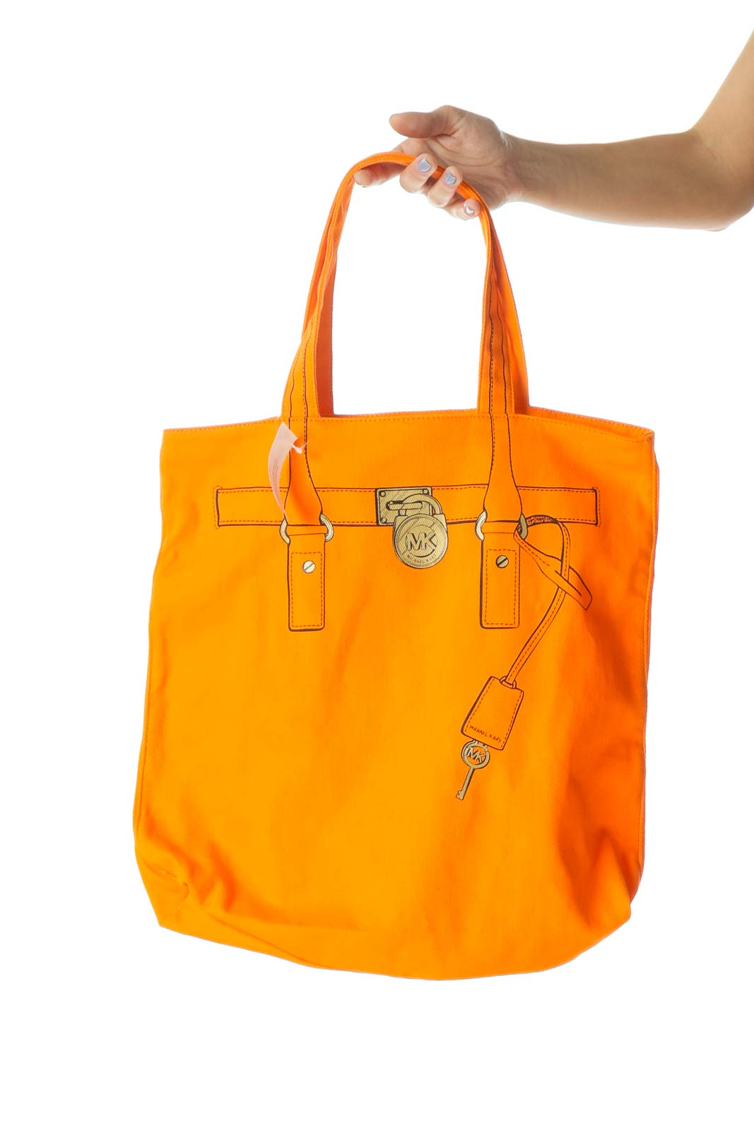 Orange Purse Print Tote Bag