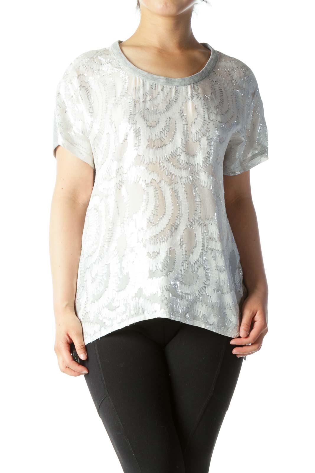Gray Shiny Fleece T-Shirt