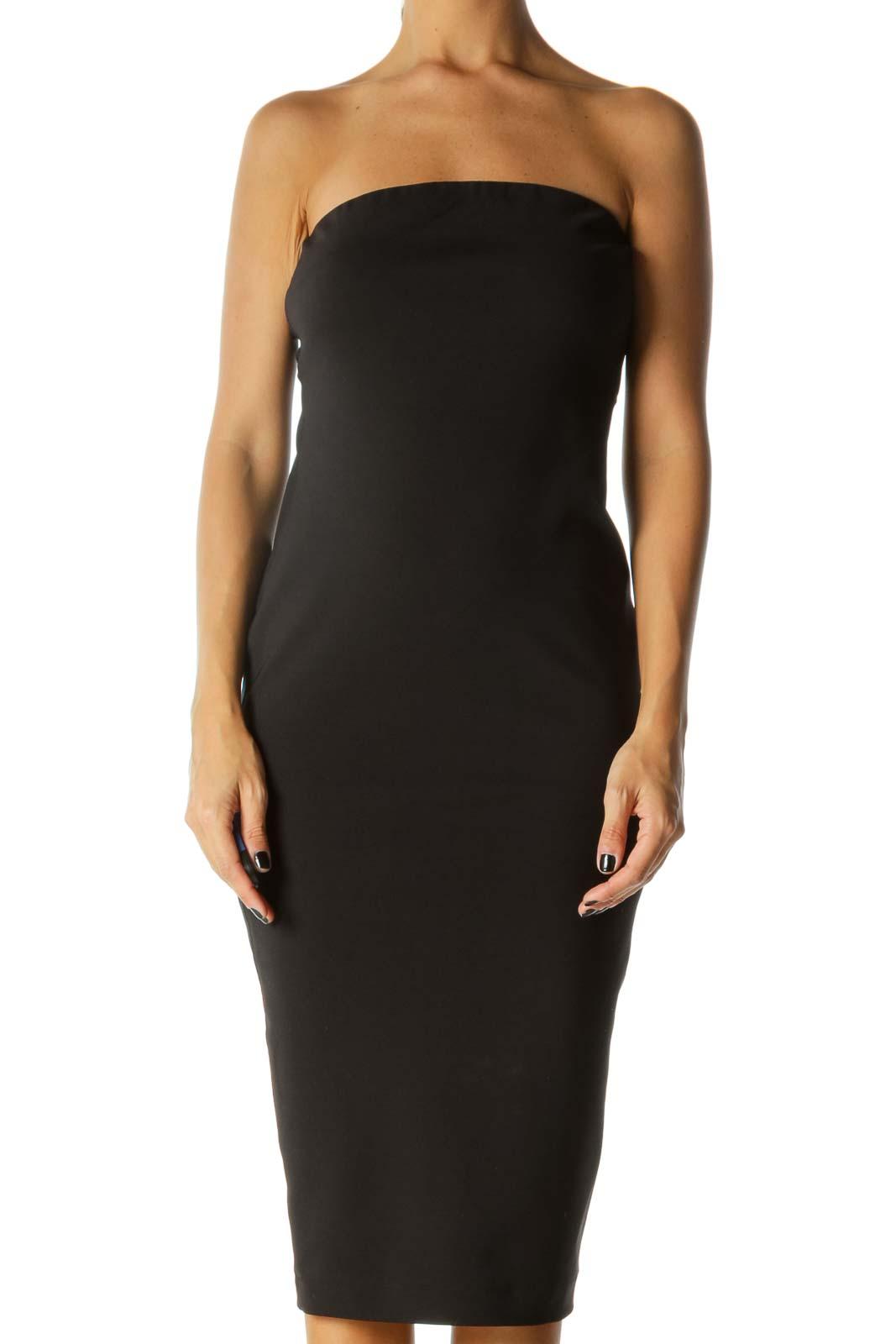 Black Strapless Bodycon Dress