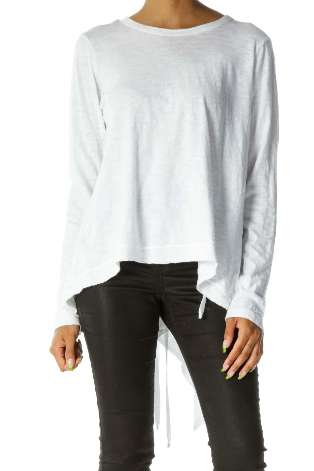 White Mottled Long Sleeve