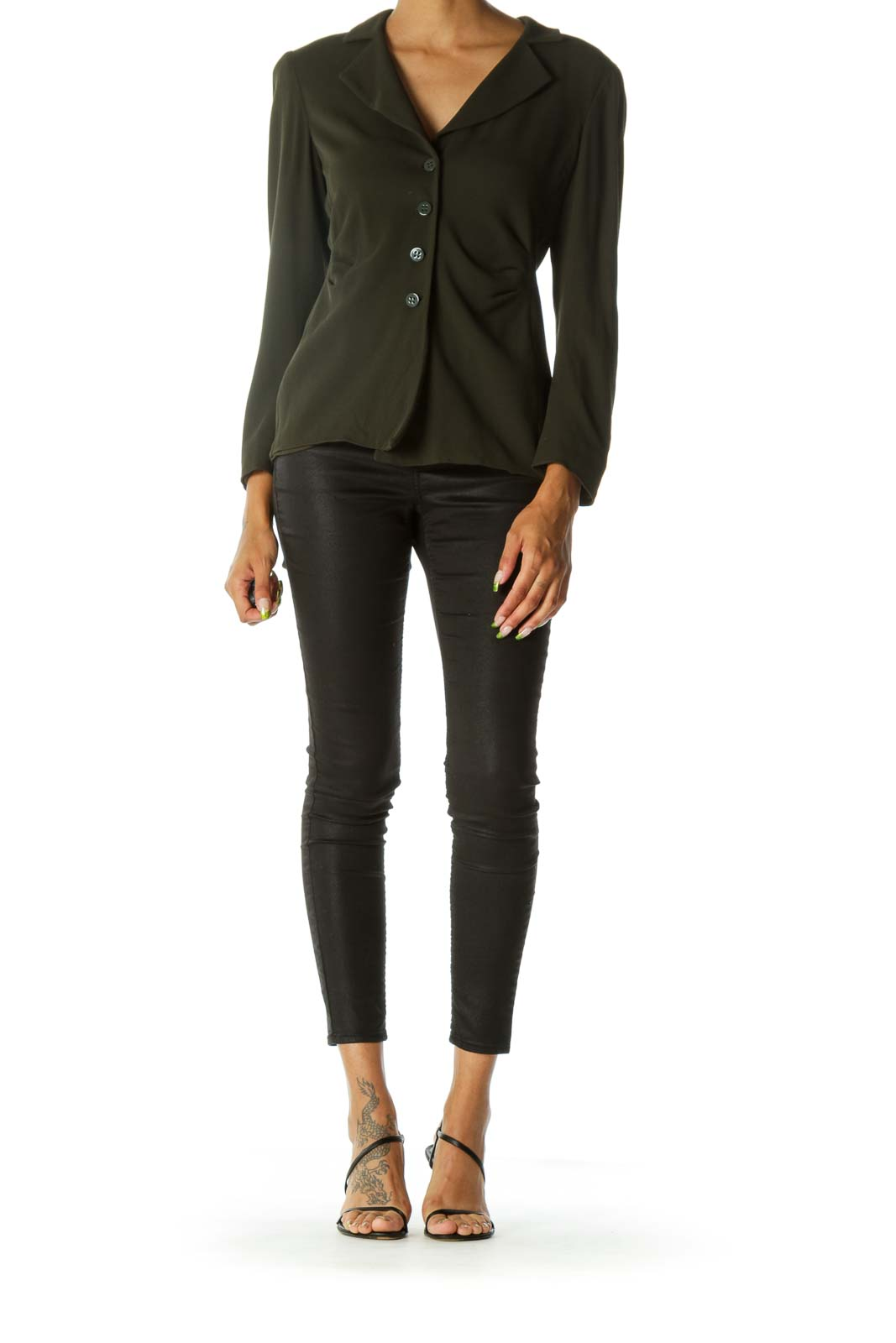 Green Designer Light-Layer Blazer