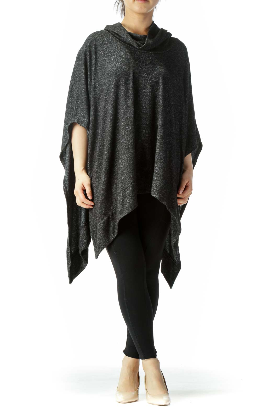 Black Turtle Neck Poncho
