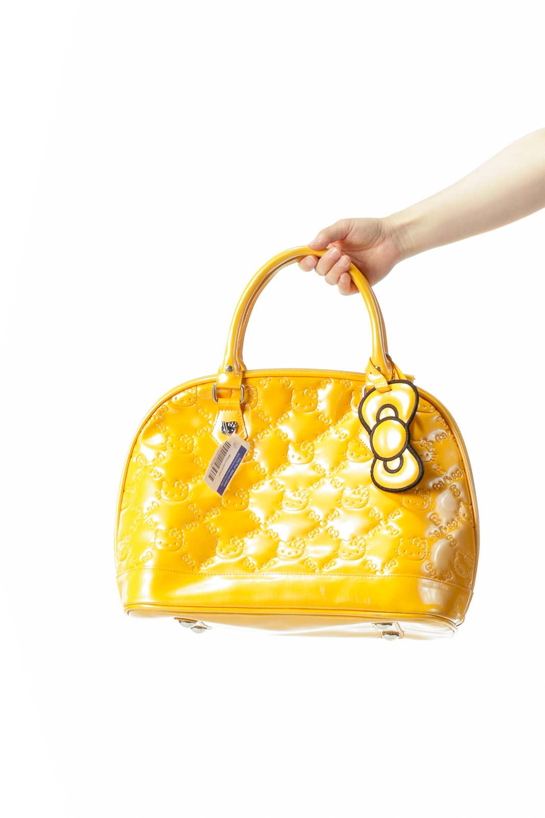Yellow Shiny Kitty Tote Bag