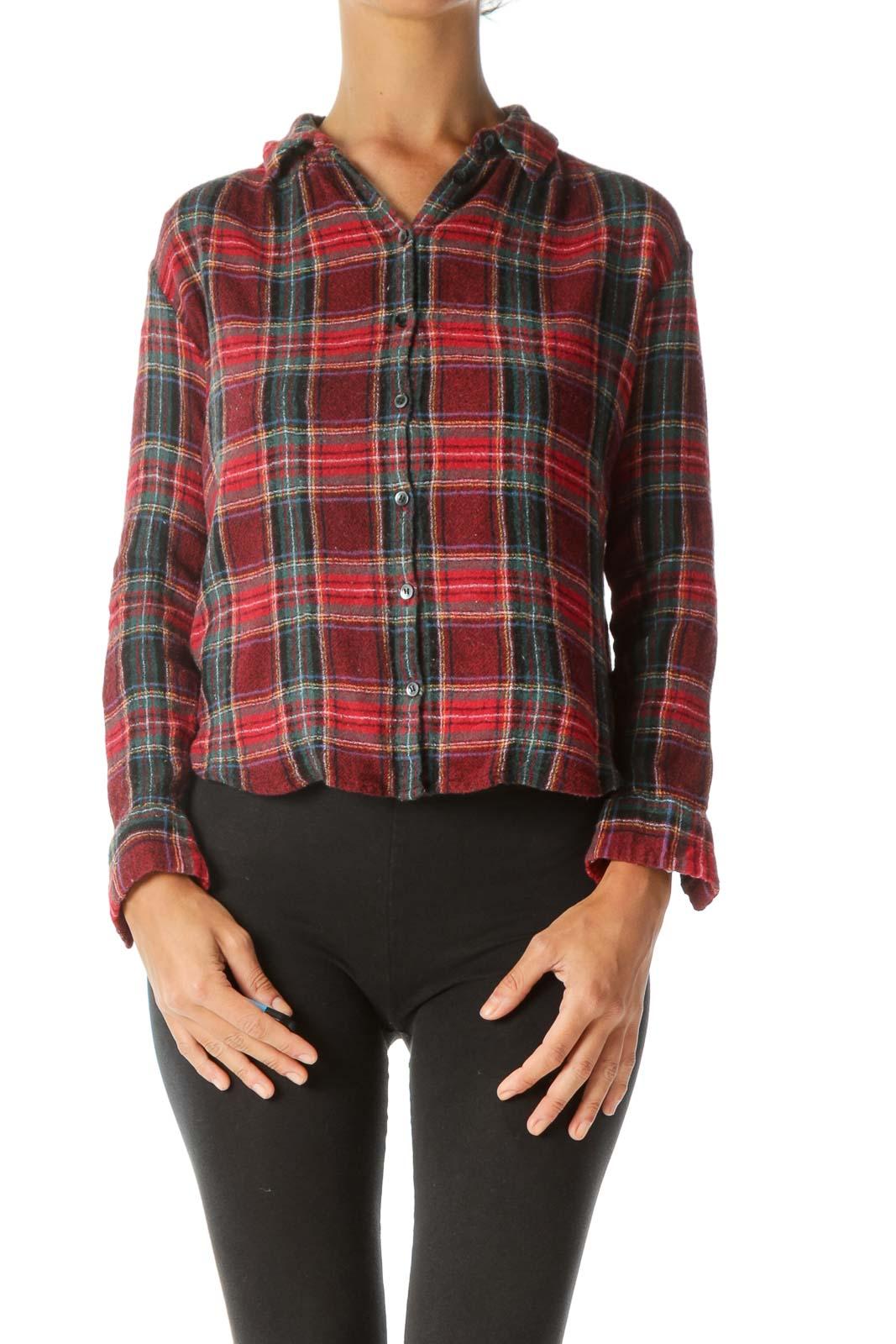 Red & Green Tartan Plaid Button-Down Shirt