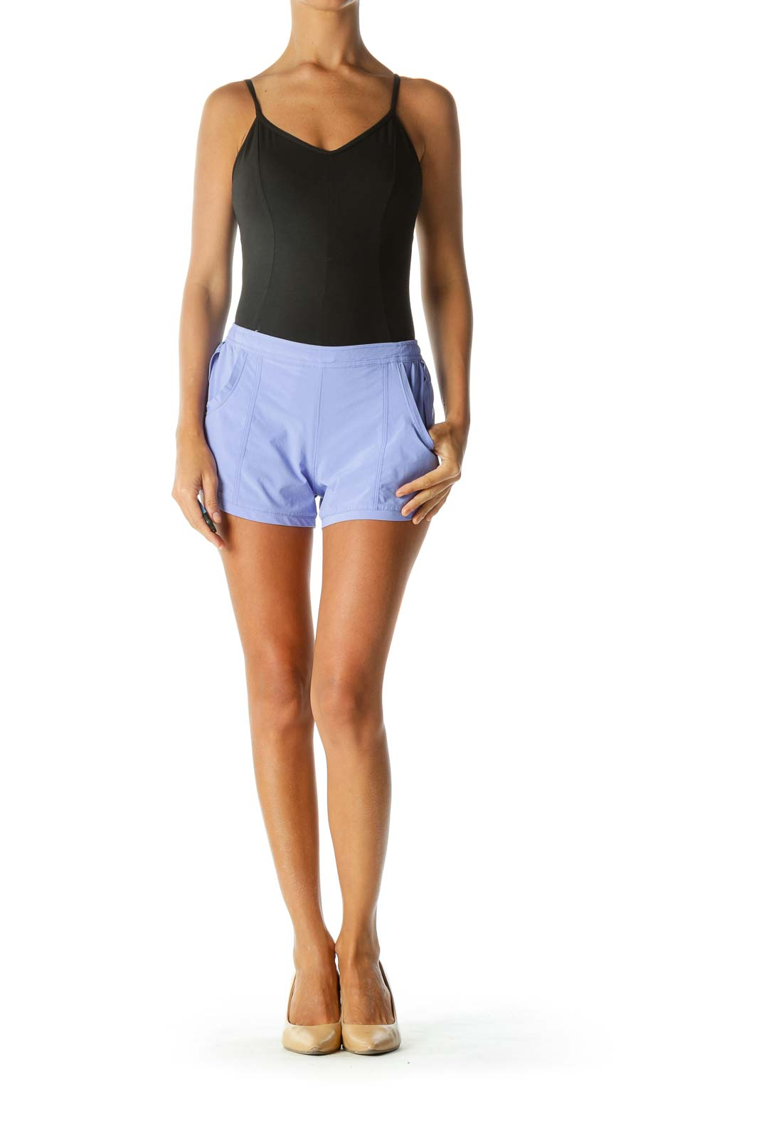 Periwinkle Pocketed Running Shorts