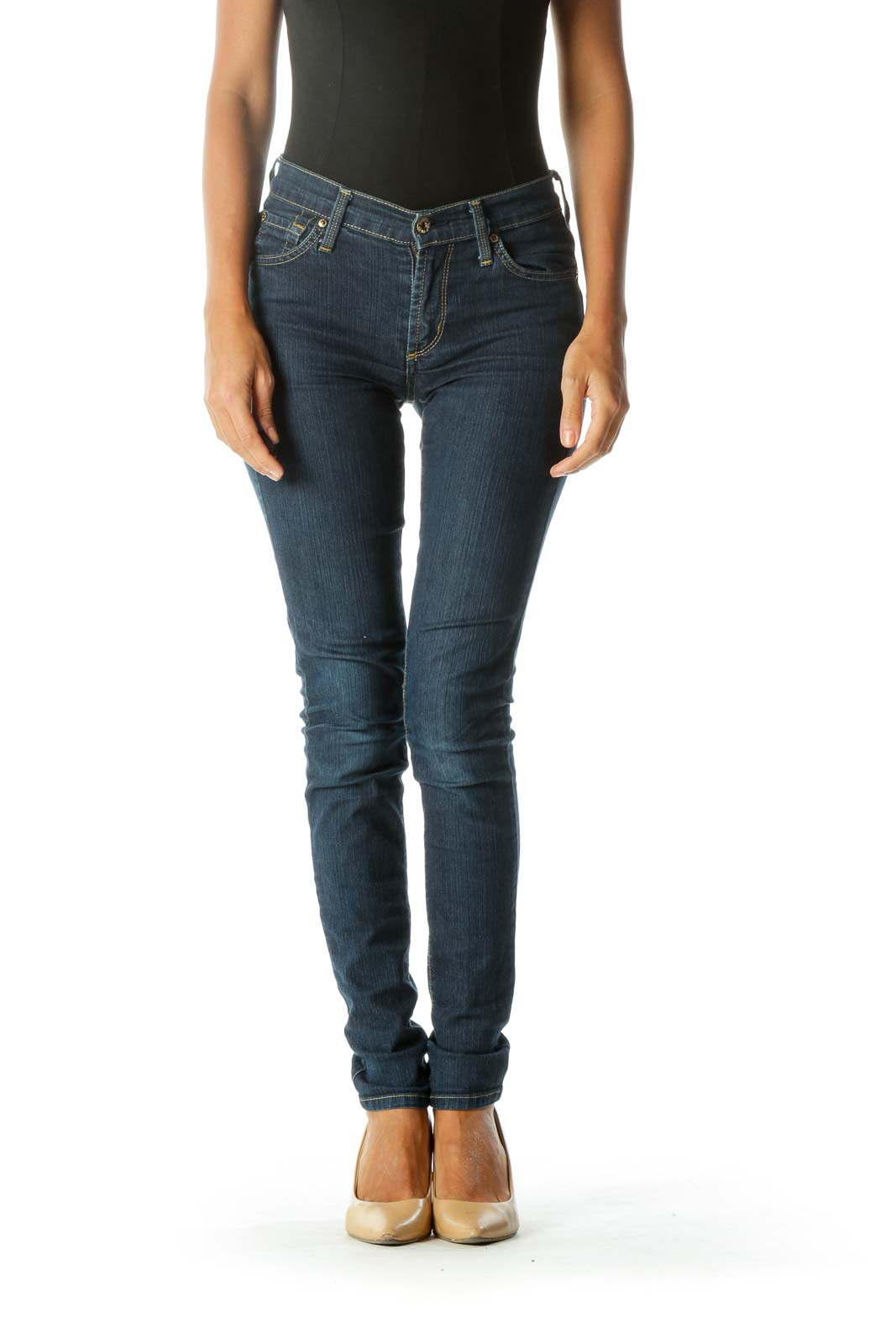 Blue Skinny Medium-Wash Jeans
