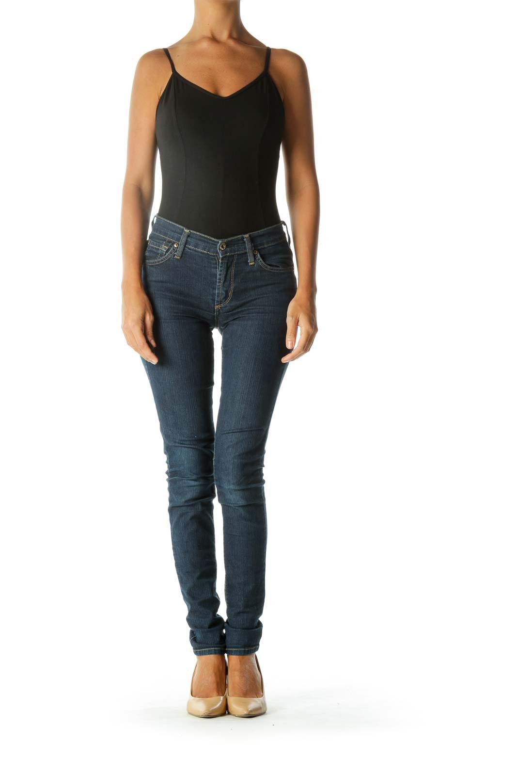 Blue Skinny Medium-Wash Jeans