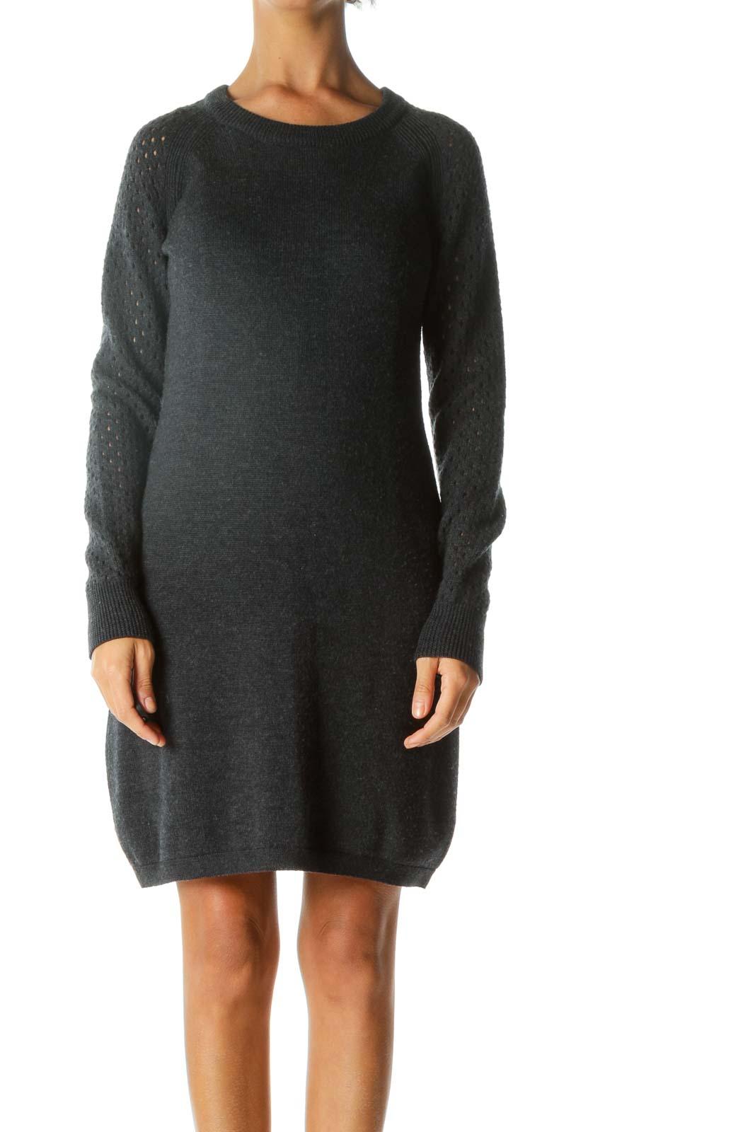 Gray Merino Wool Shift Dress