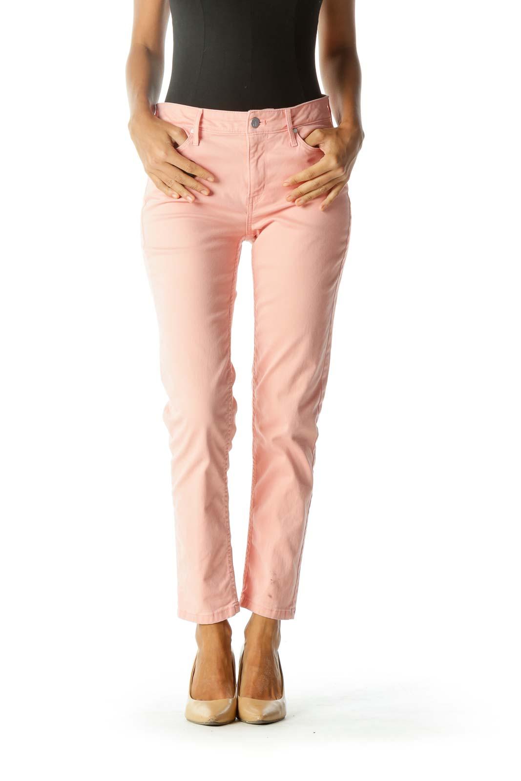 Pink Ankle Skinny Jean