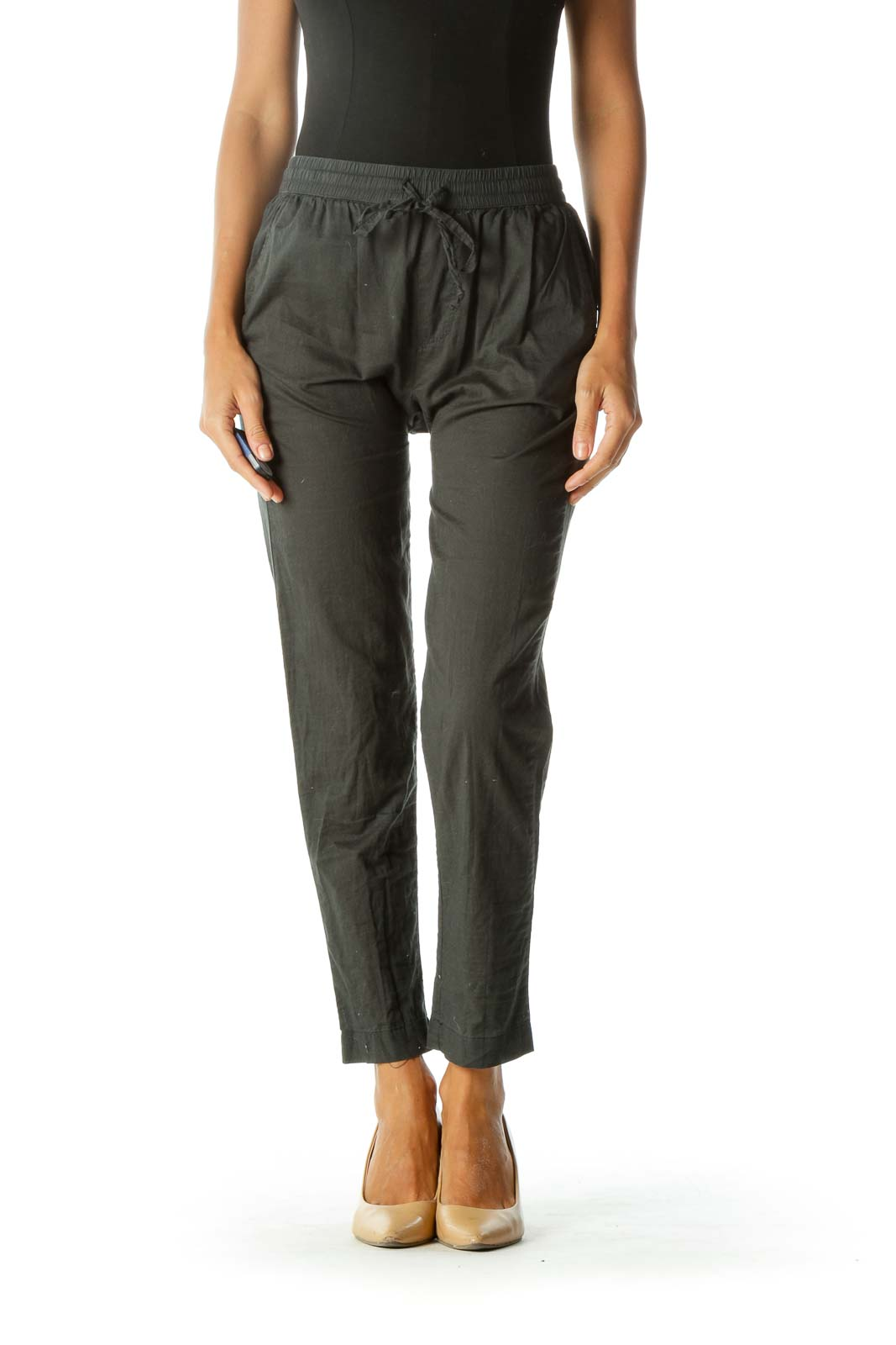 Gray Cotton Casual Pant