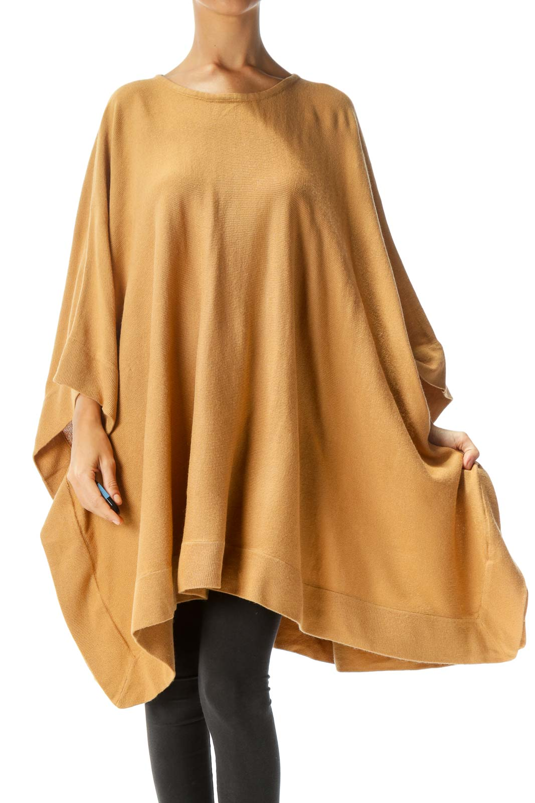 Brown Oversized Poncho