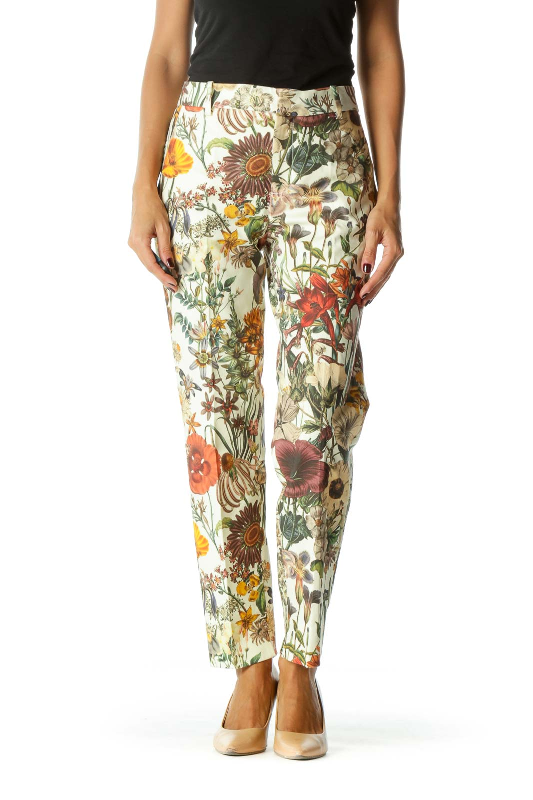Multicolor Floral Slim Fit Pant
