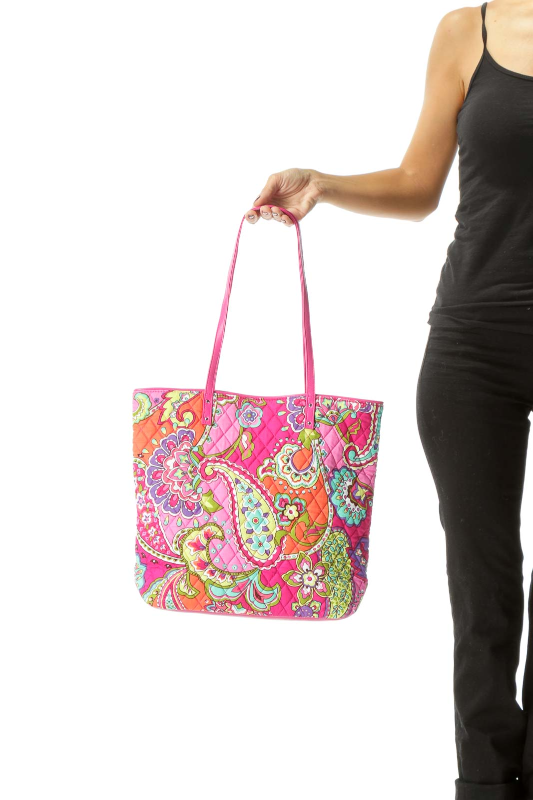 Multicolor Quilted Tote Bag