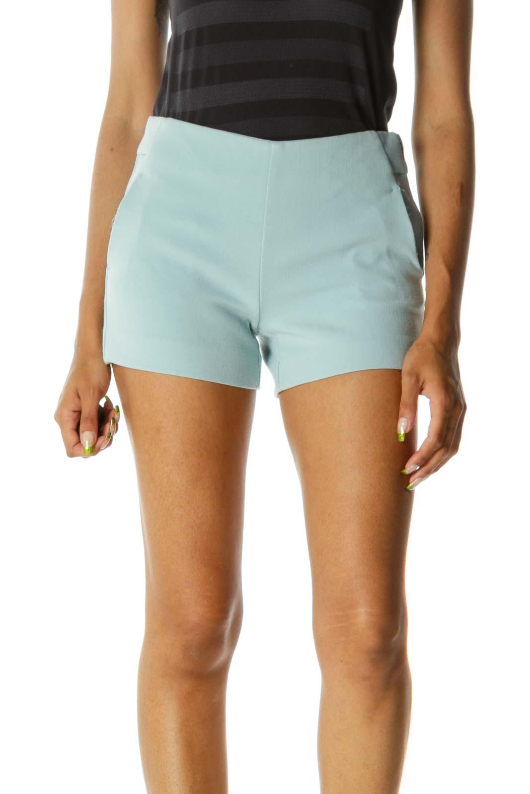 Mint Green High-Waist Shorts