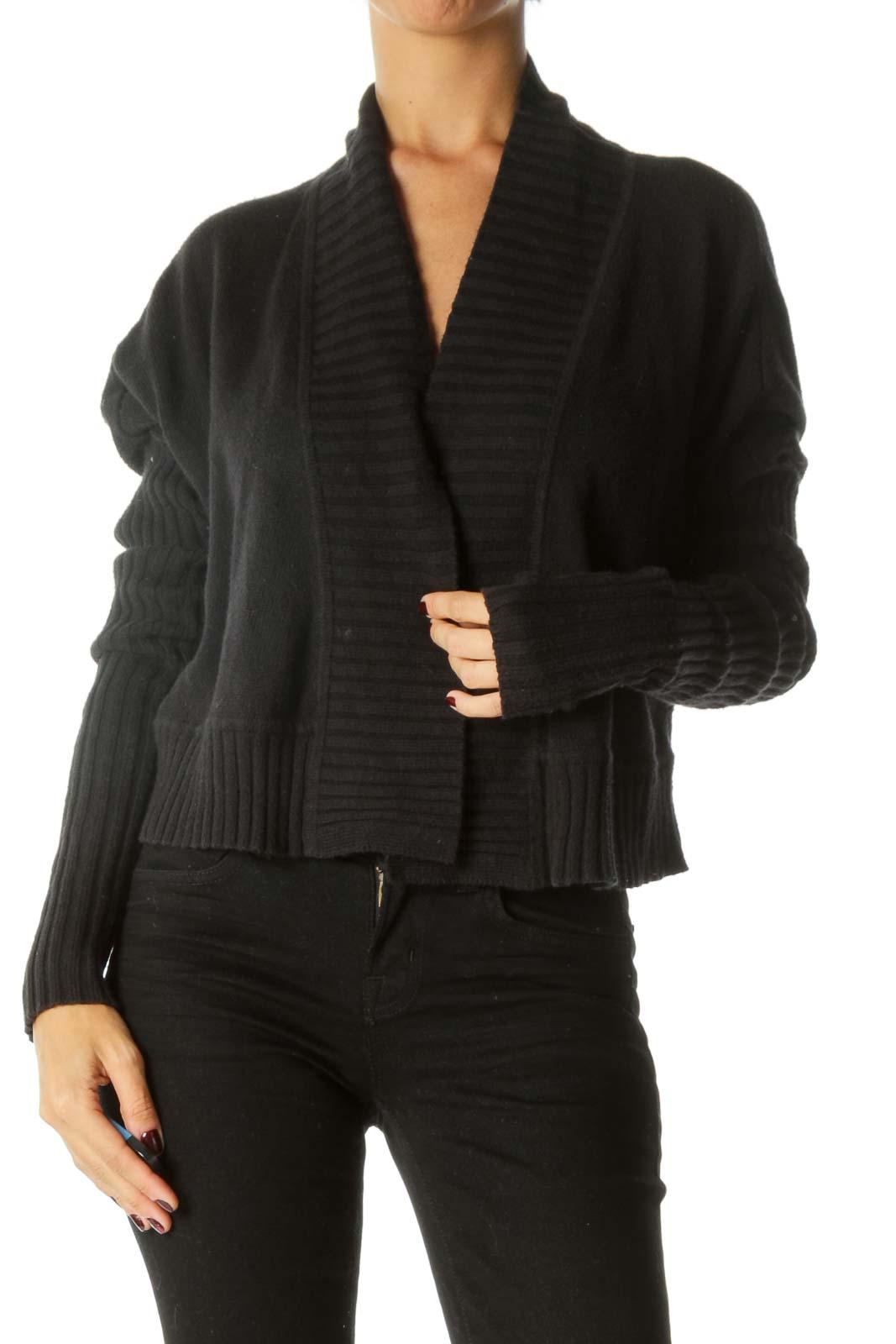 Black Open Long Sleeve Sweater