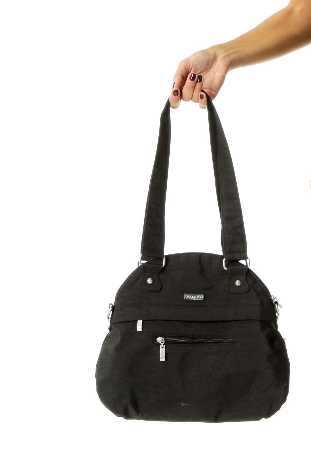 Black Multi Pocketed Shoulder Bag