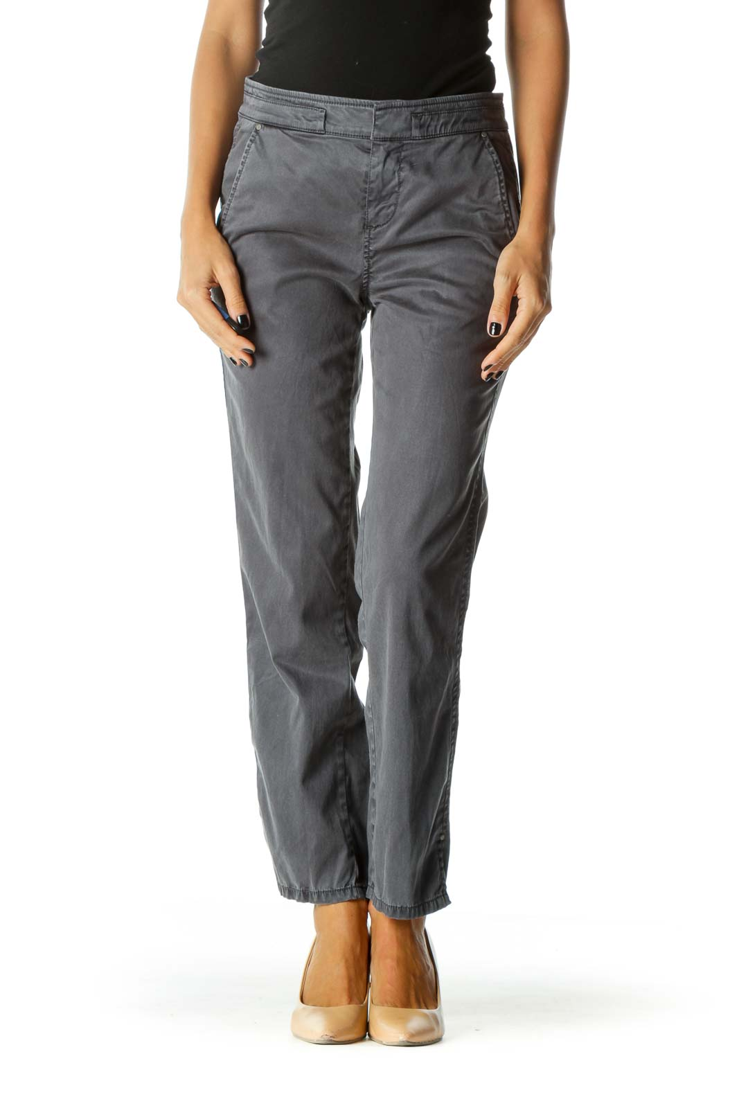 Gray Faded Wash Pocket3 Pants