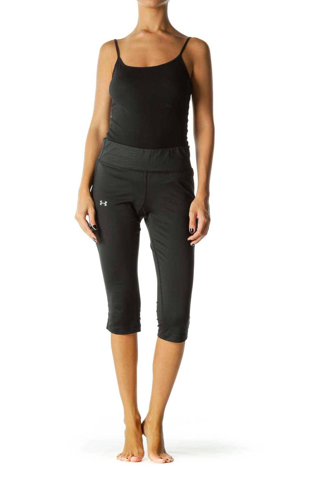 Black Neon Waistband Cropped Legging