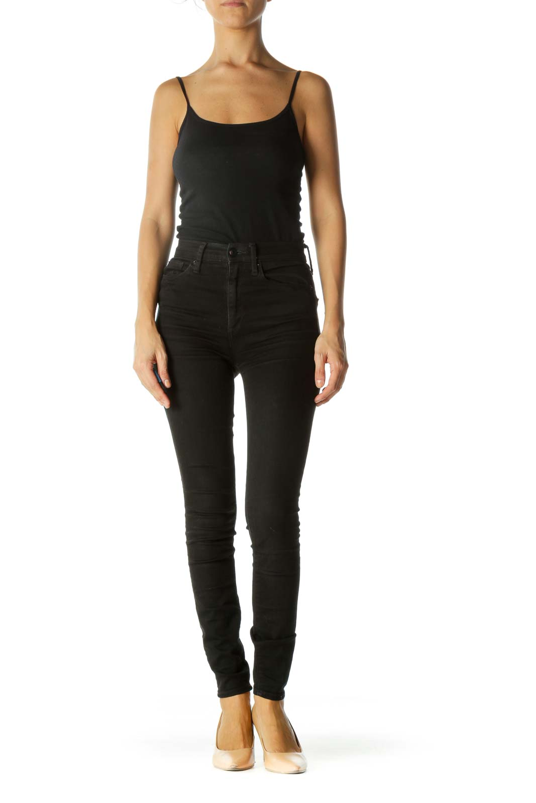 Black Super High Rise True Skinny Pants