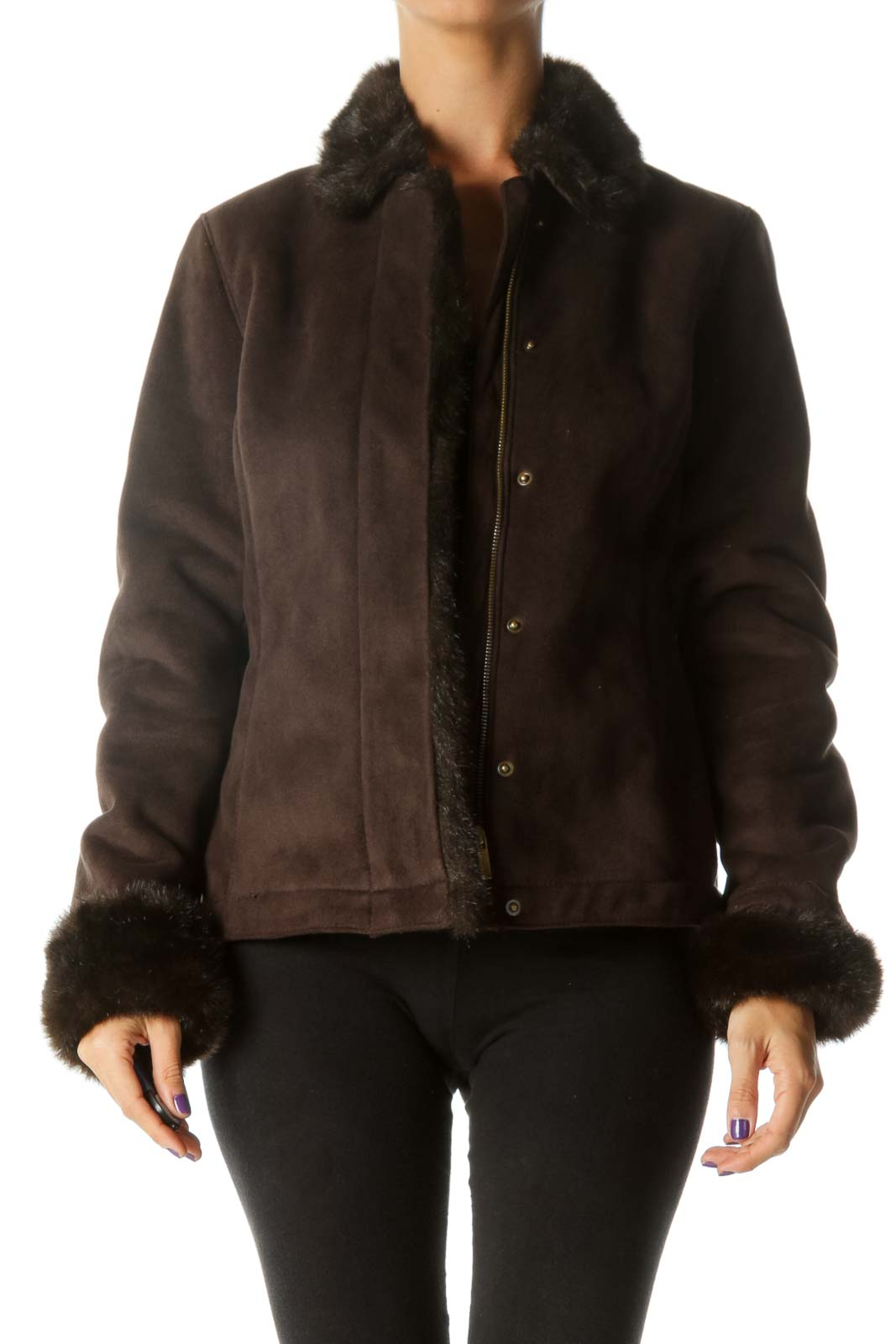 Brown Faux Shearling Coat