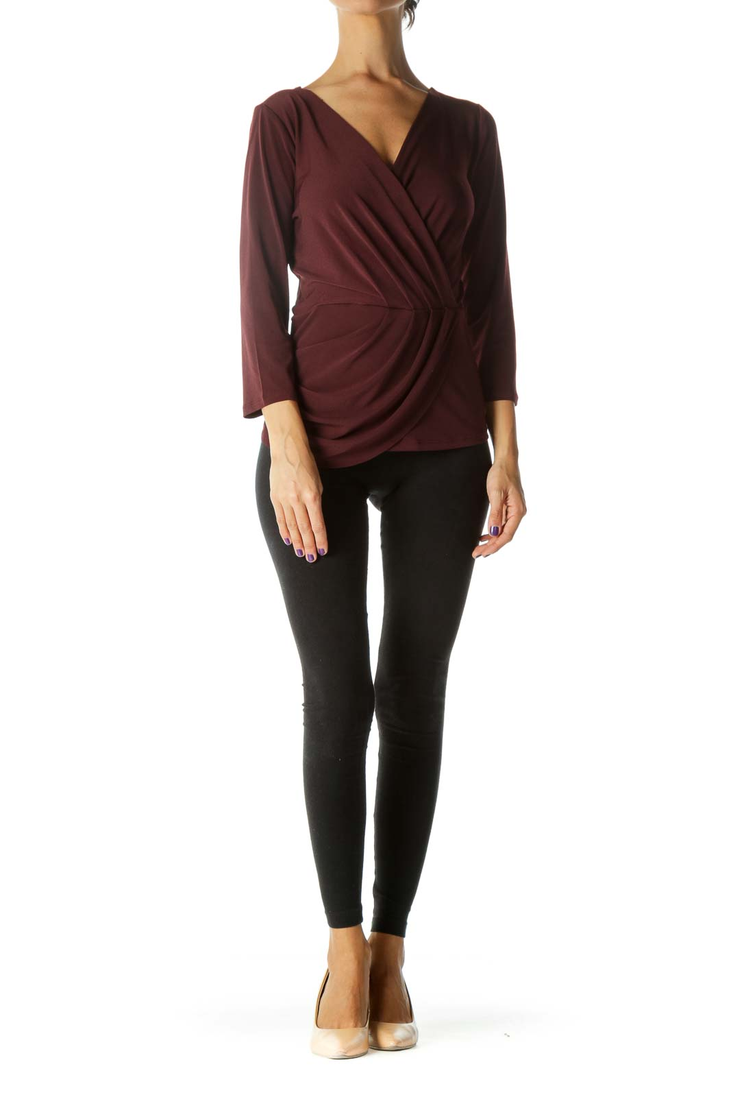 Burgundy Deep Neck Tunic