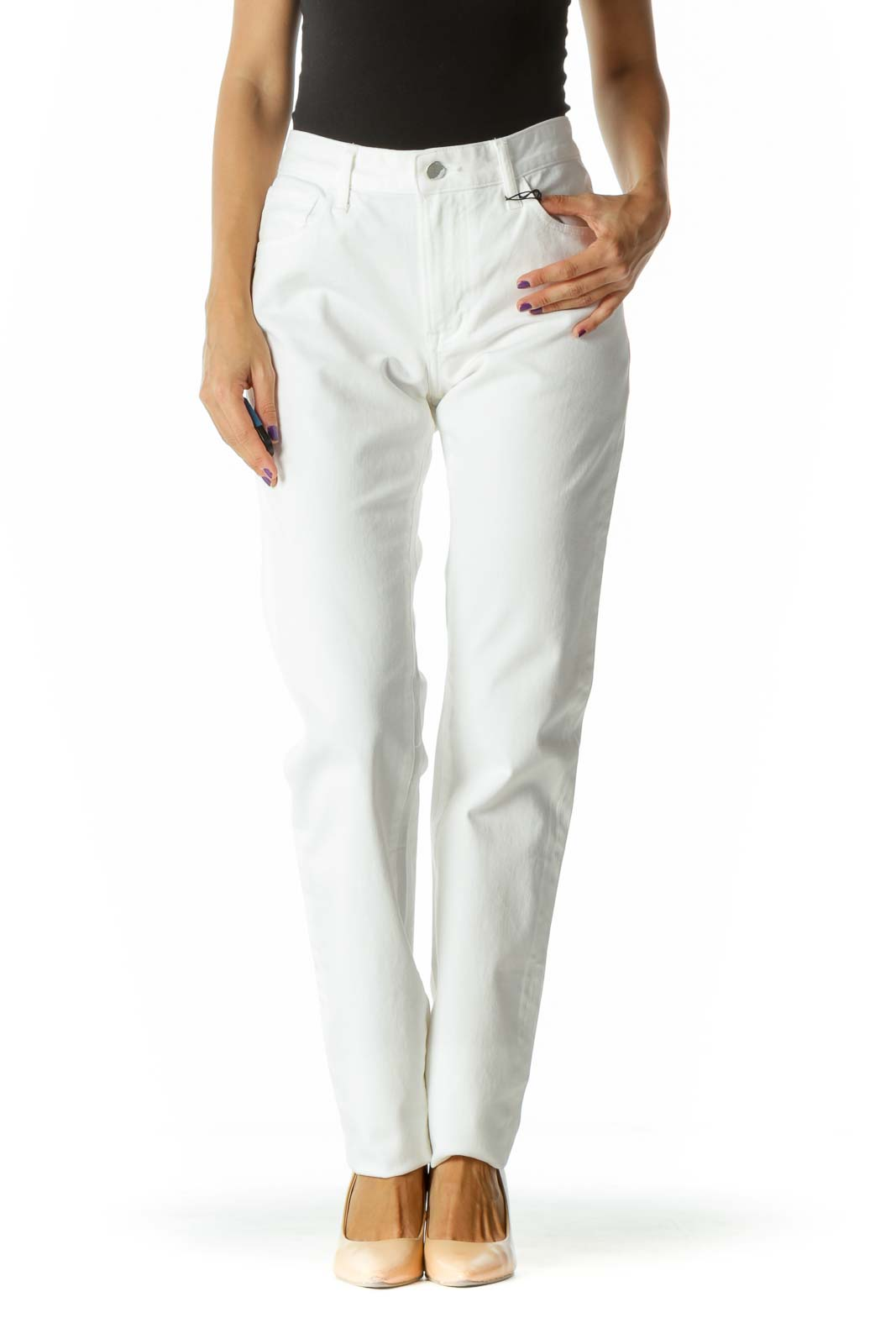 Bright White Stretch Skinny Pants