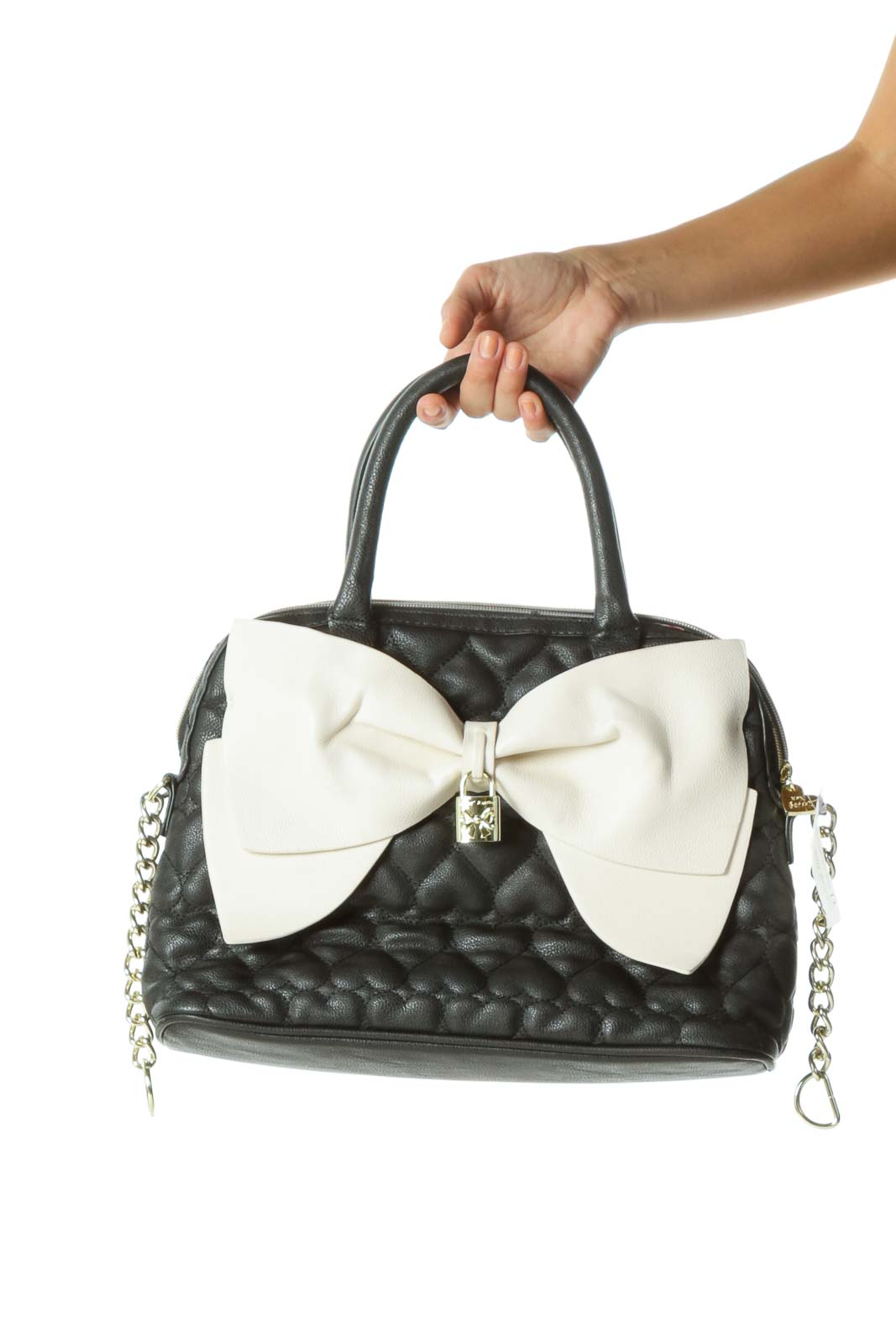 Black&White Bow Heart Satchel