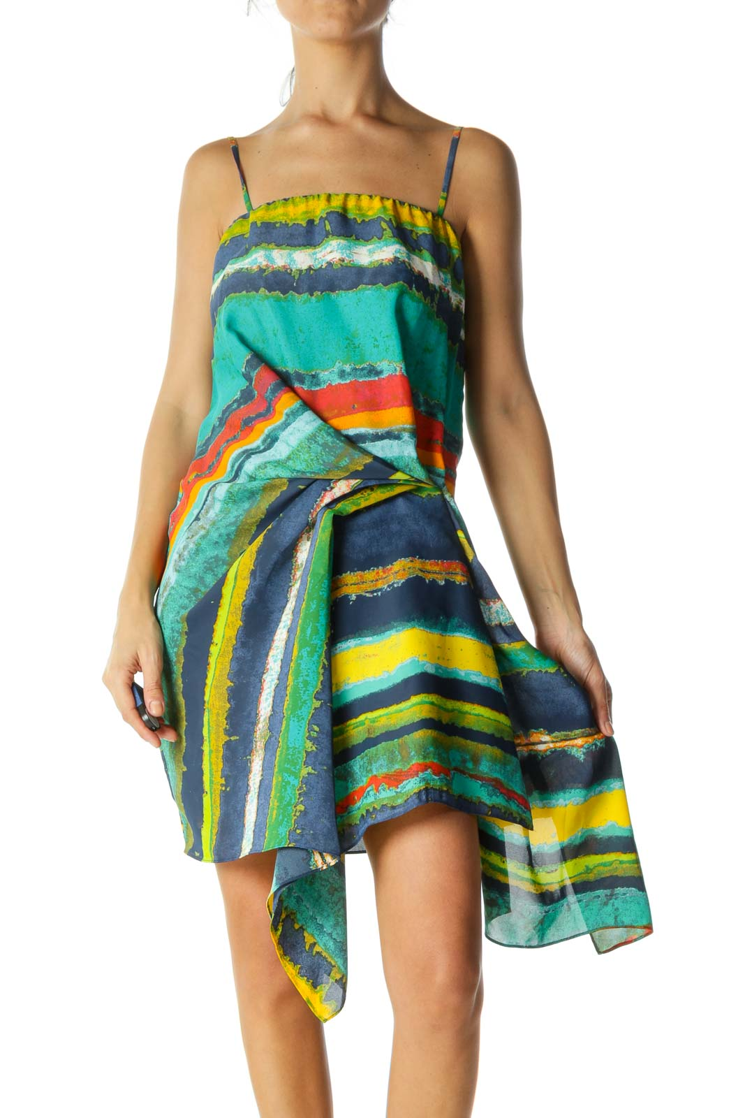 Multi Color Ruffled Cami Dress