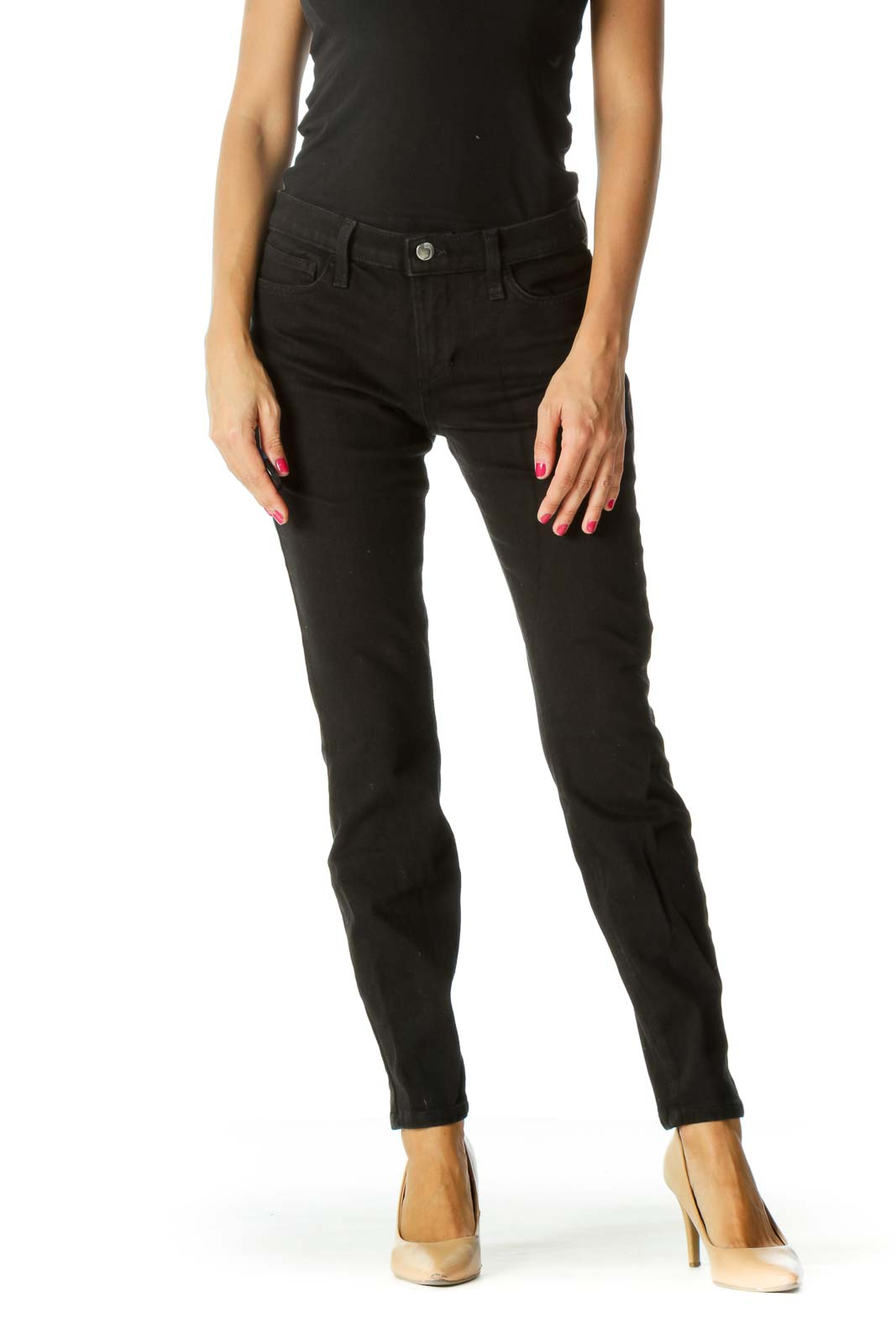 Black Skinny Pocketed Denim Pants