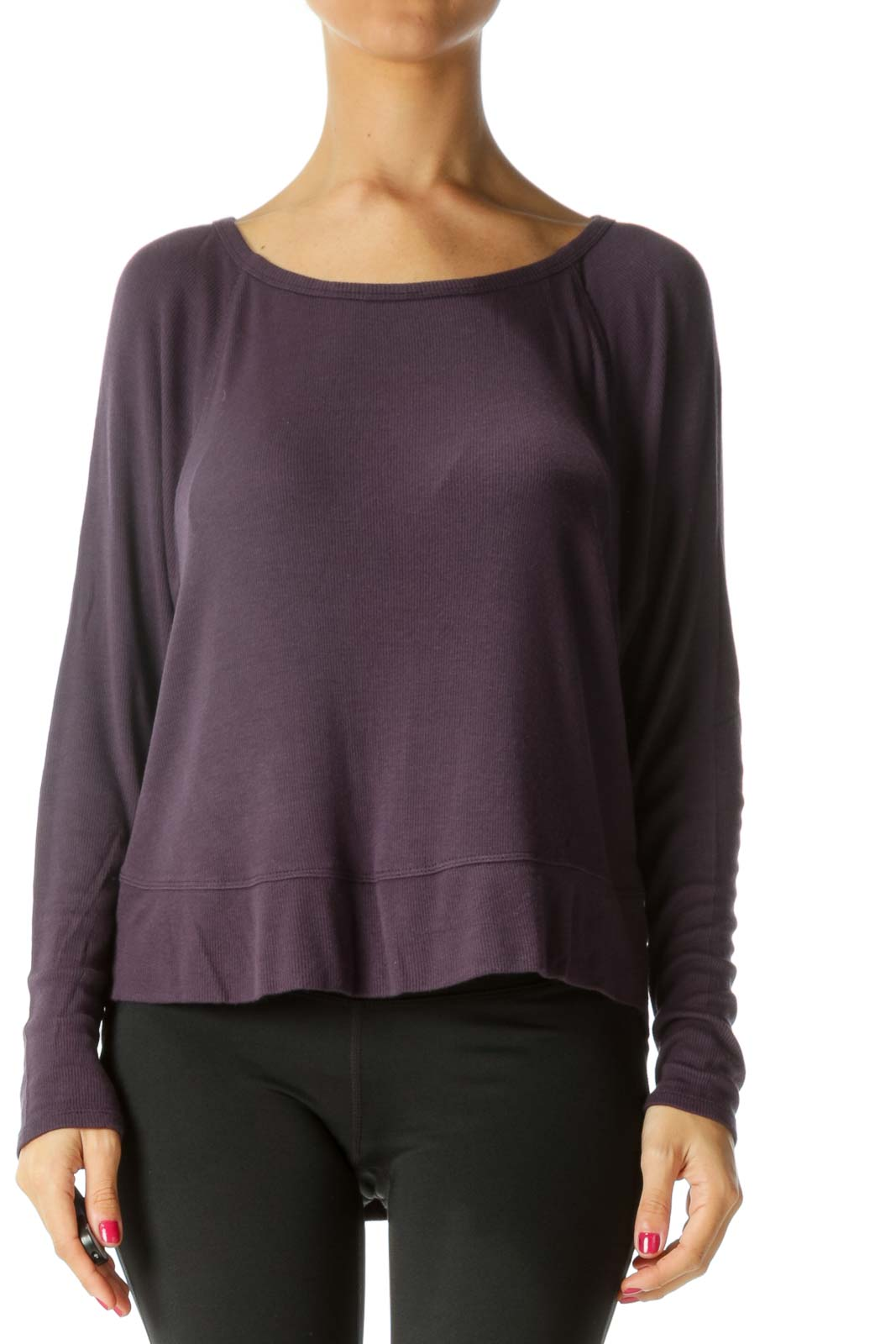 Purple Loose Jersey Top