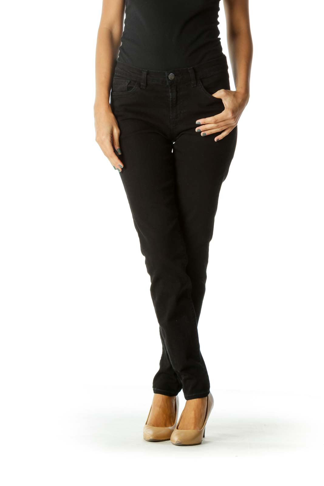 Black Stretch Skinny Denim Jeans