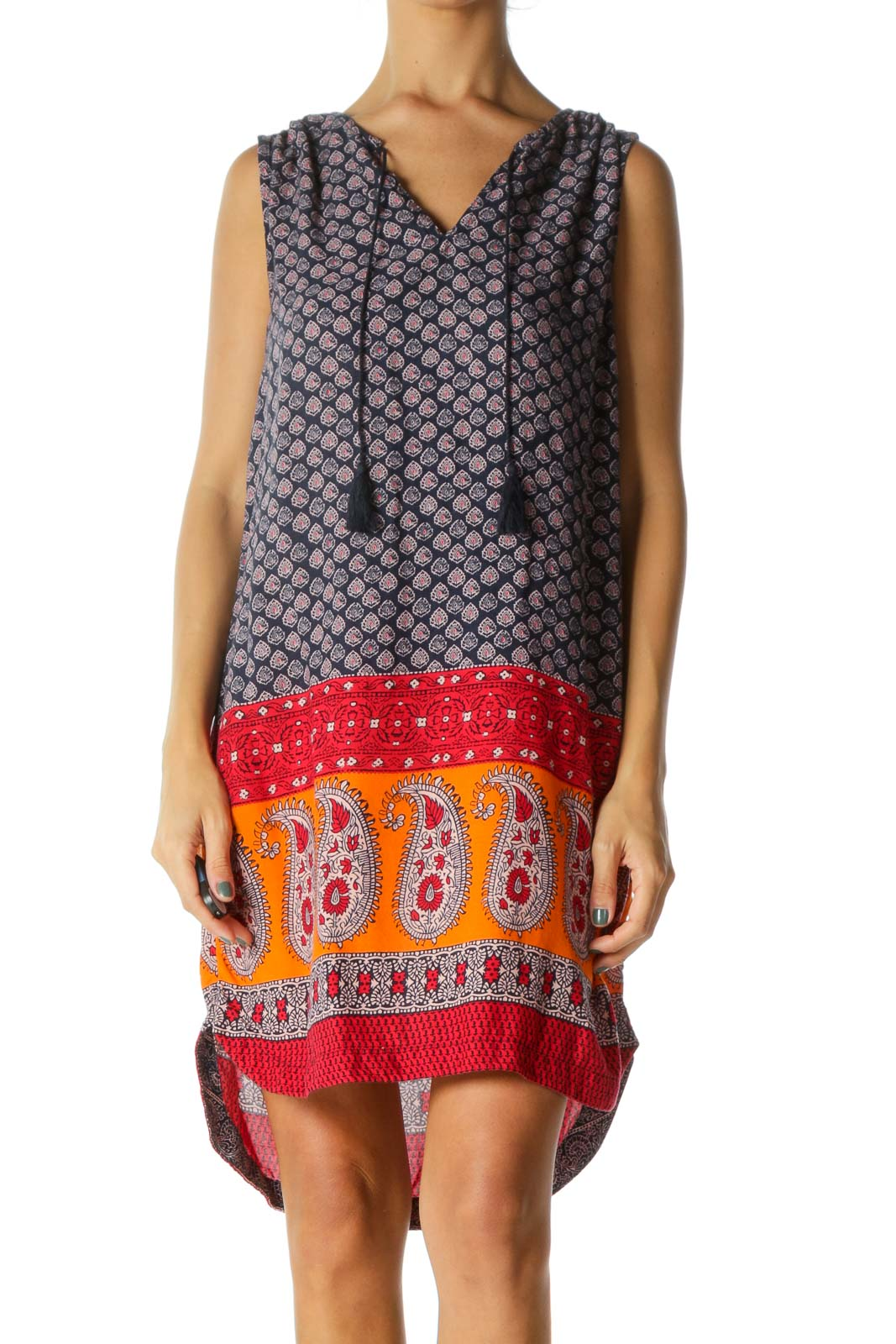 Multicolor Boho Shift Dress