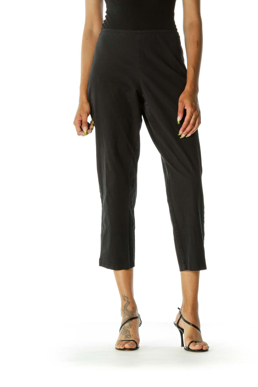Black Skinny Cotton Pant