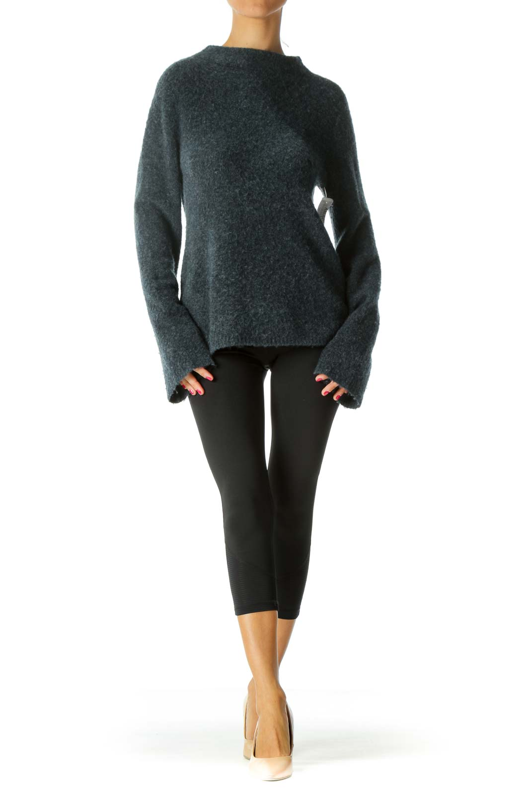 Navy Mock-Neck Sweater