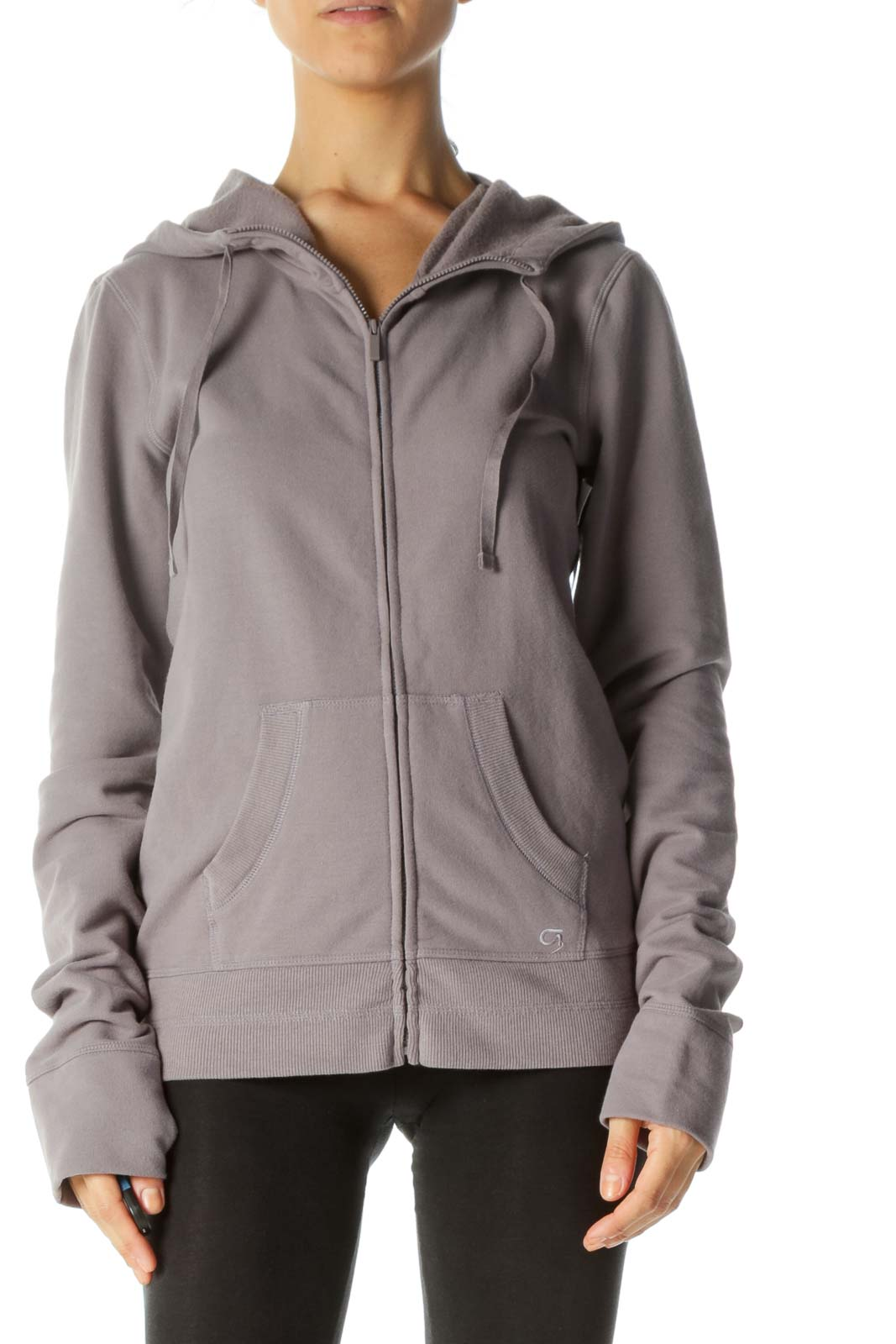 Purple Zipped Hooded Sports Jacket