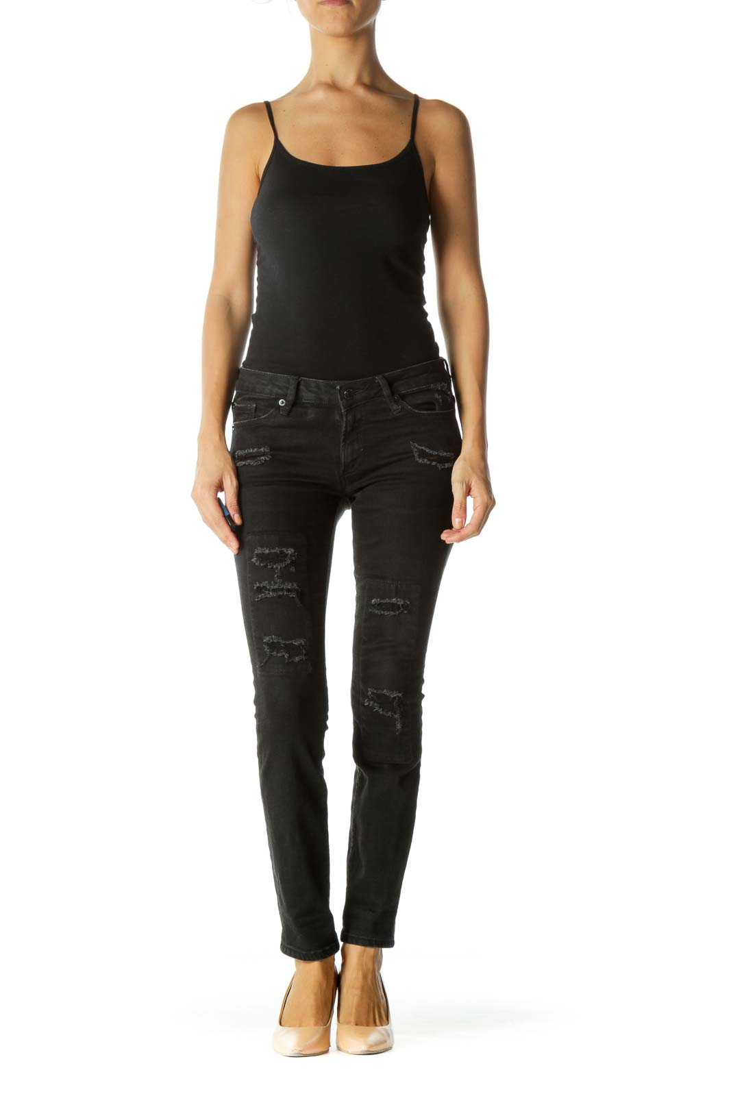 Faded Black Always Skinny High Rise Stretch Pants