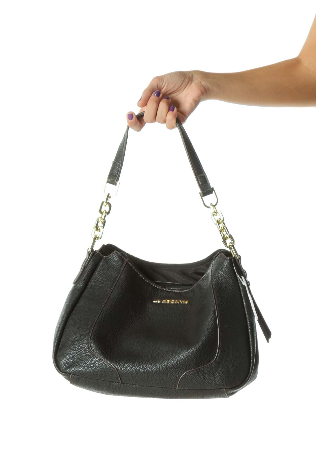 Black Hobo Shoulder Chain Bag