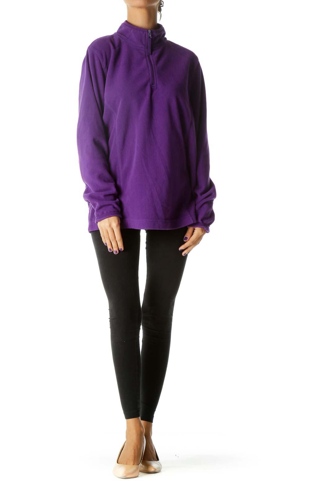 Purple Sports Pullover
