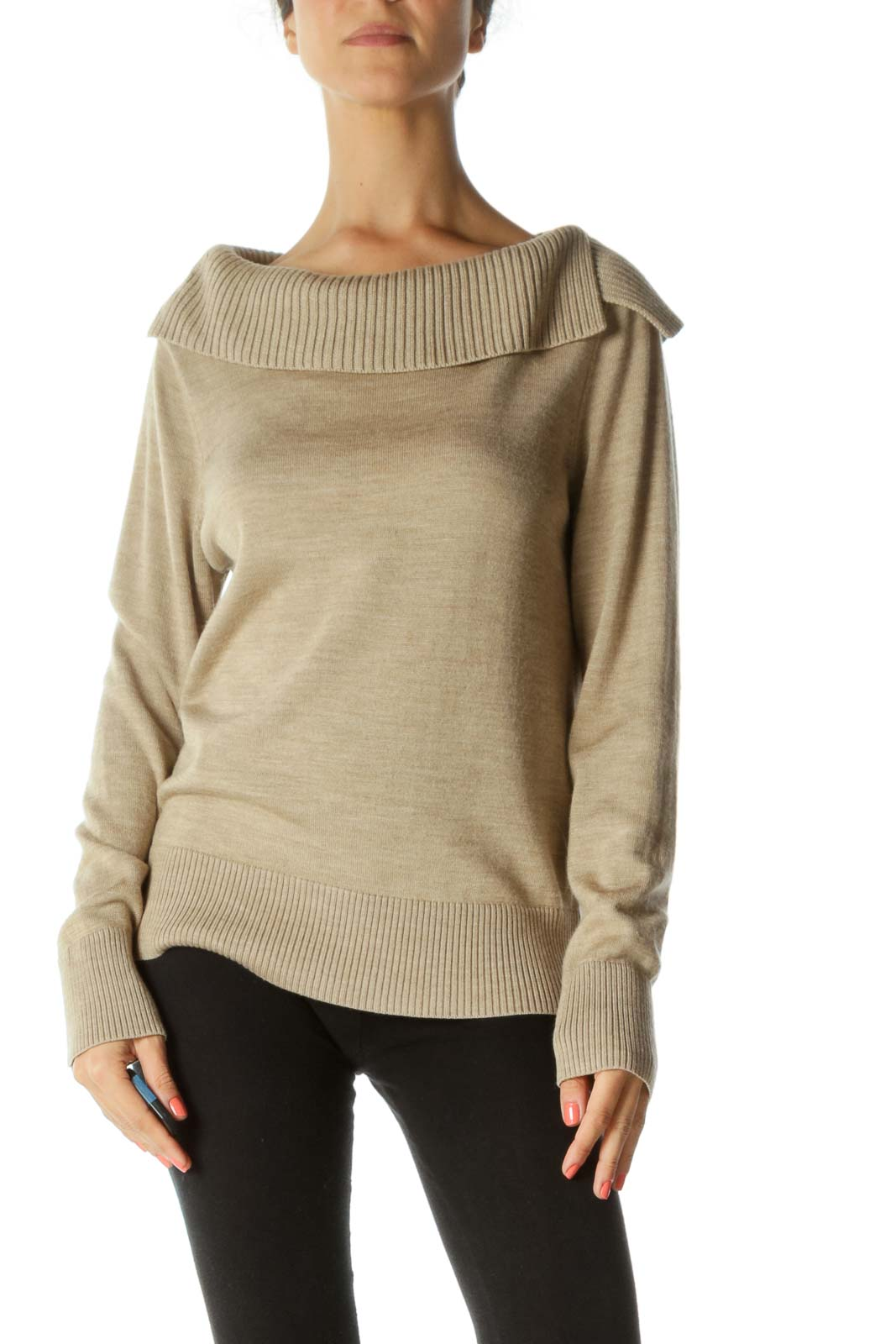 Cream Merino Wool Sweater