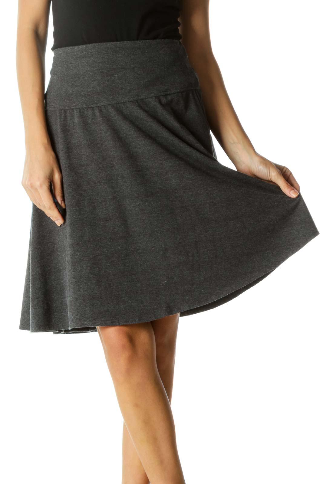 Gray Circle Skirt