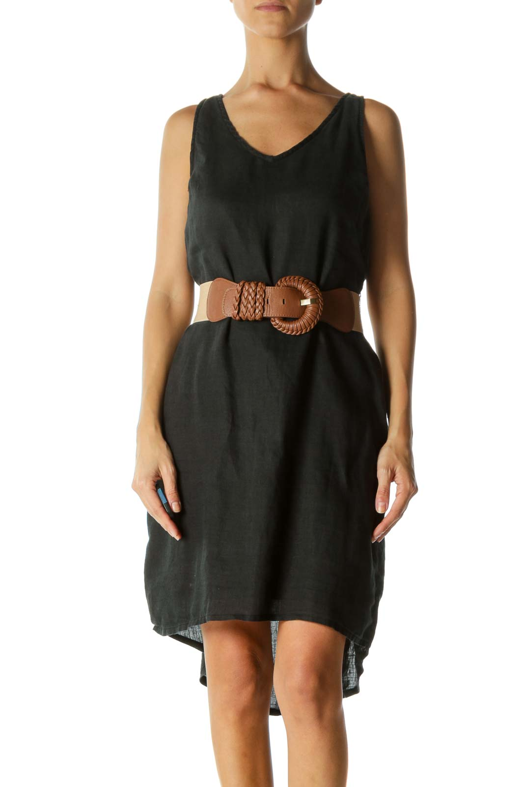 Black Belted Day Dress