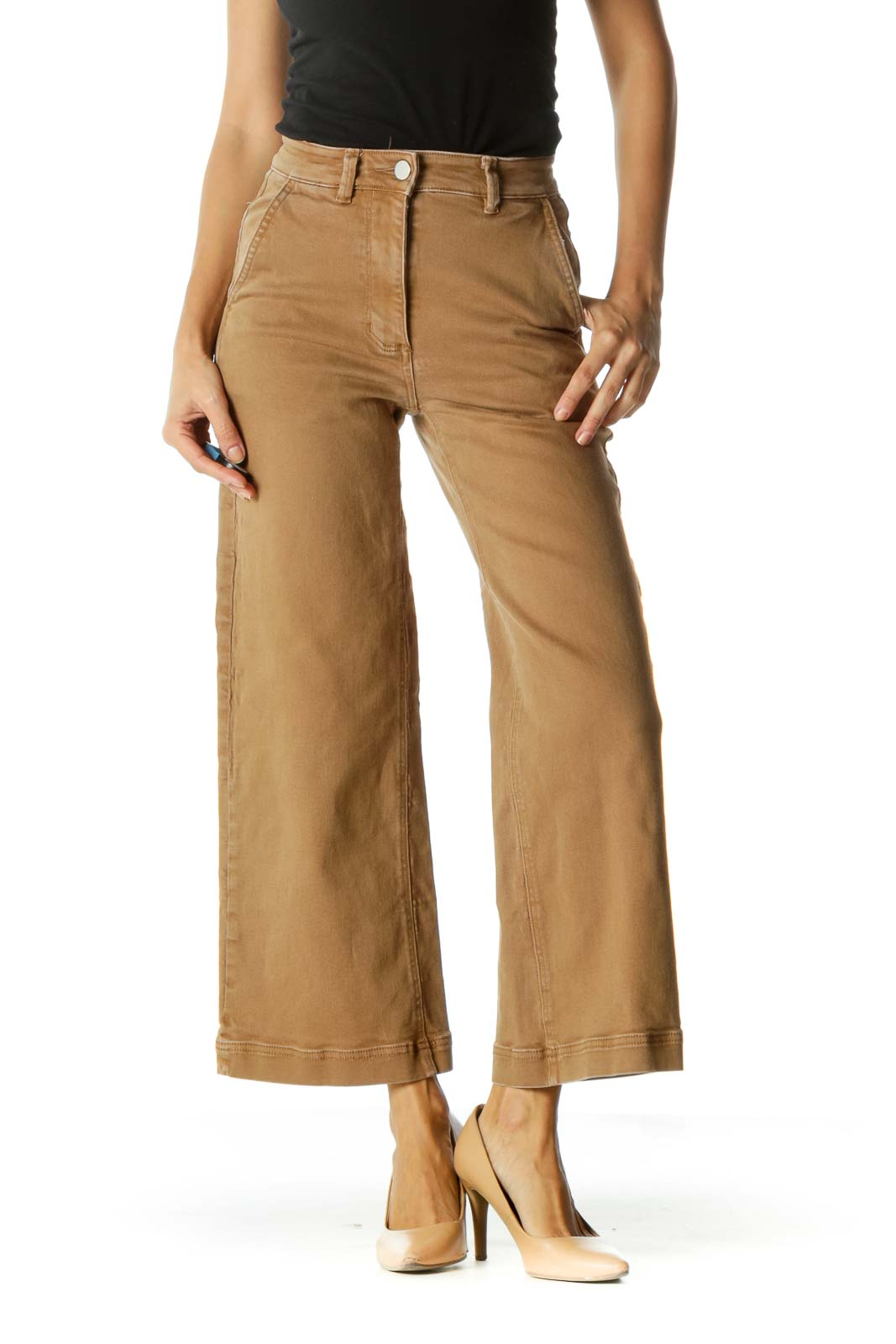 Brown Flared Jeans