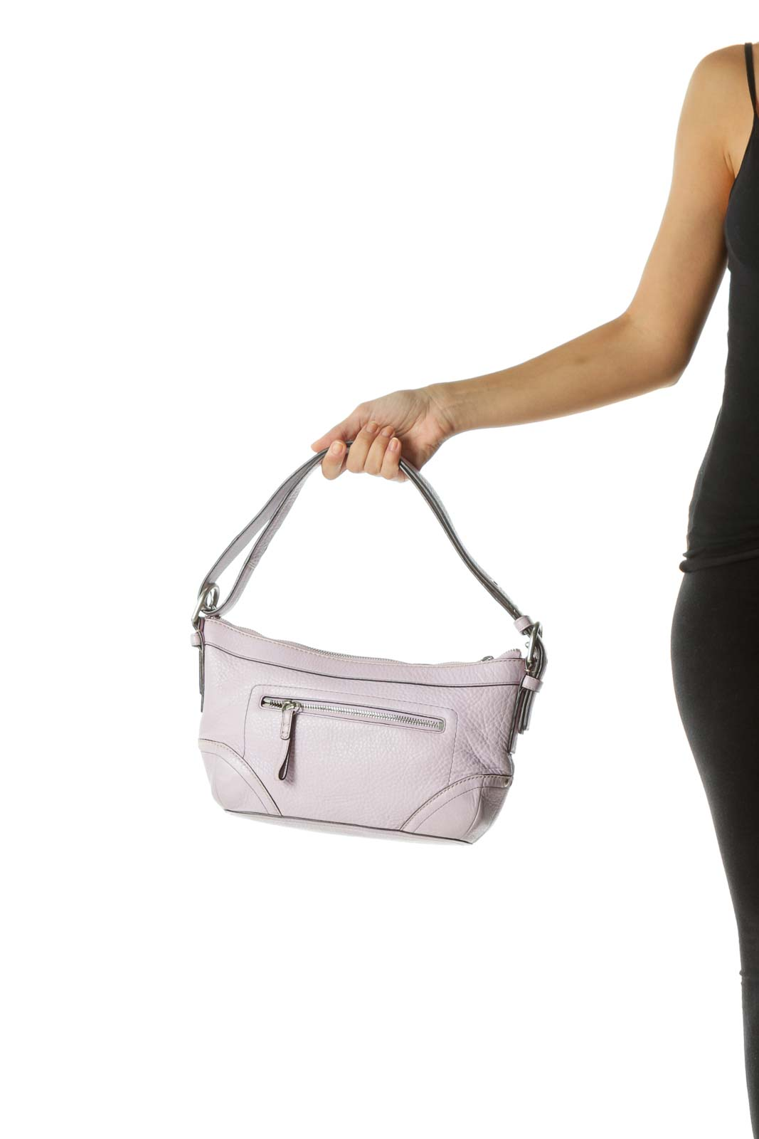 Purple Pocketed Shoulder Bag