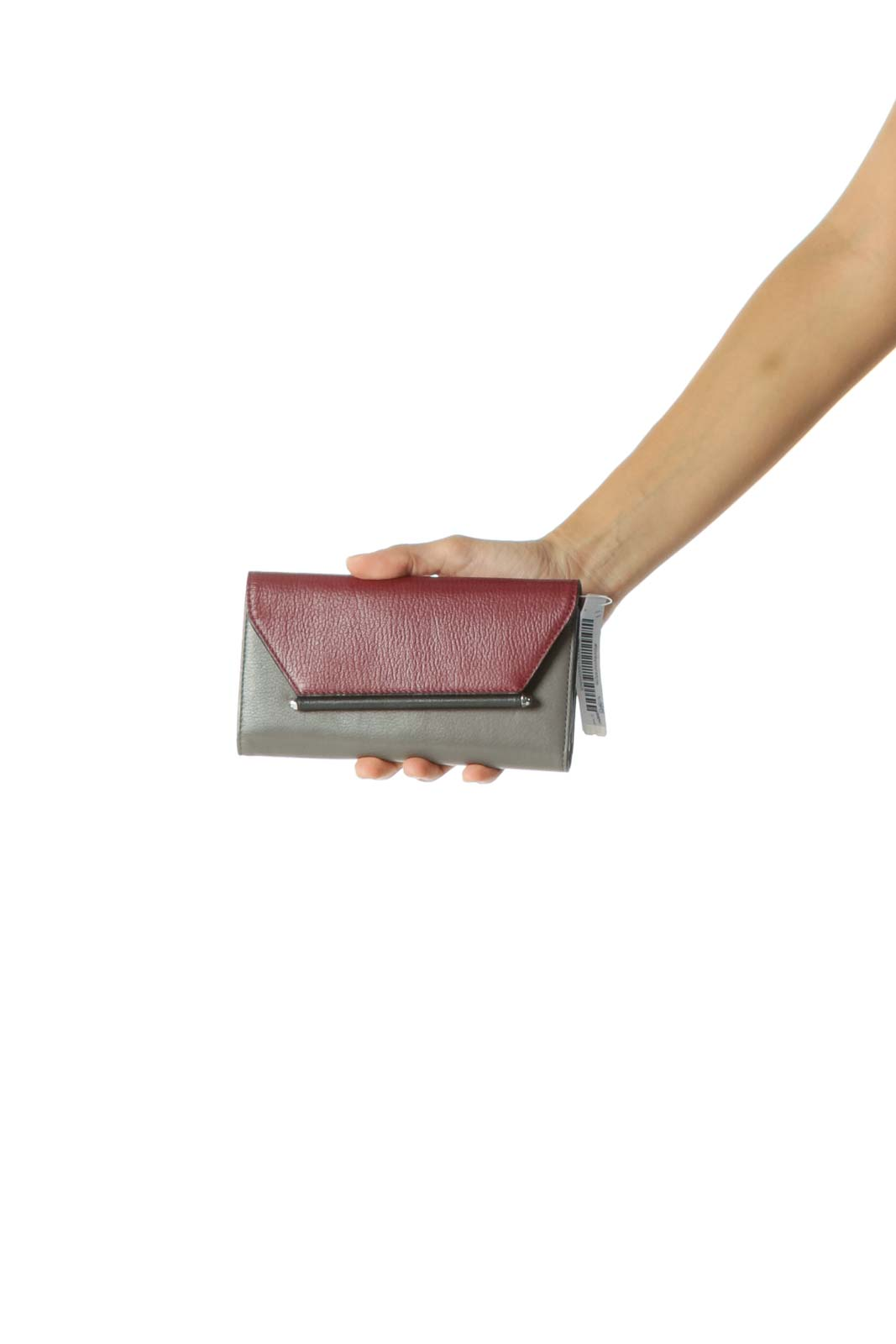 Burgundy and Gray Wallet