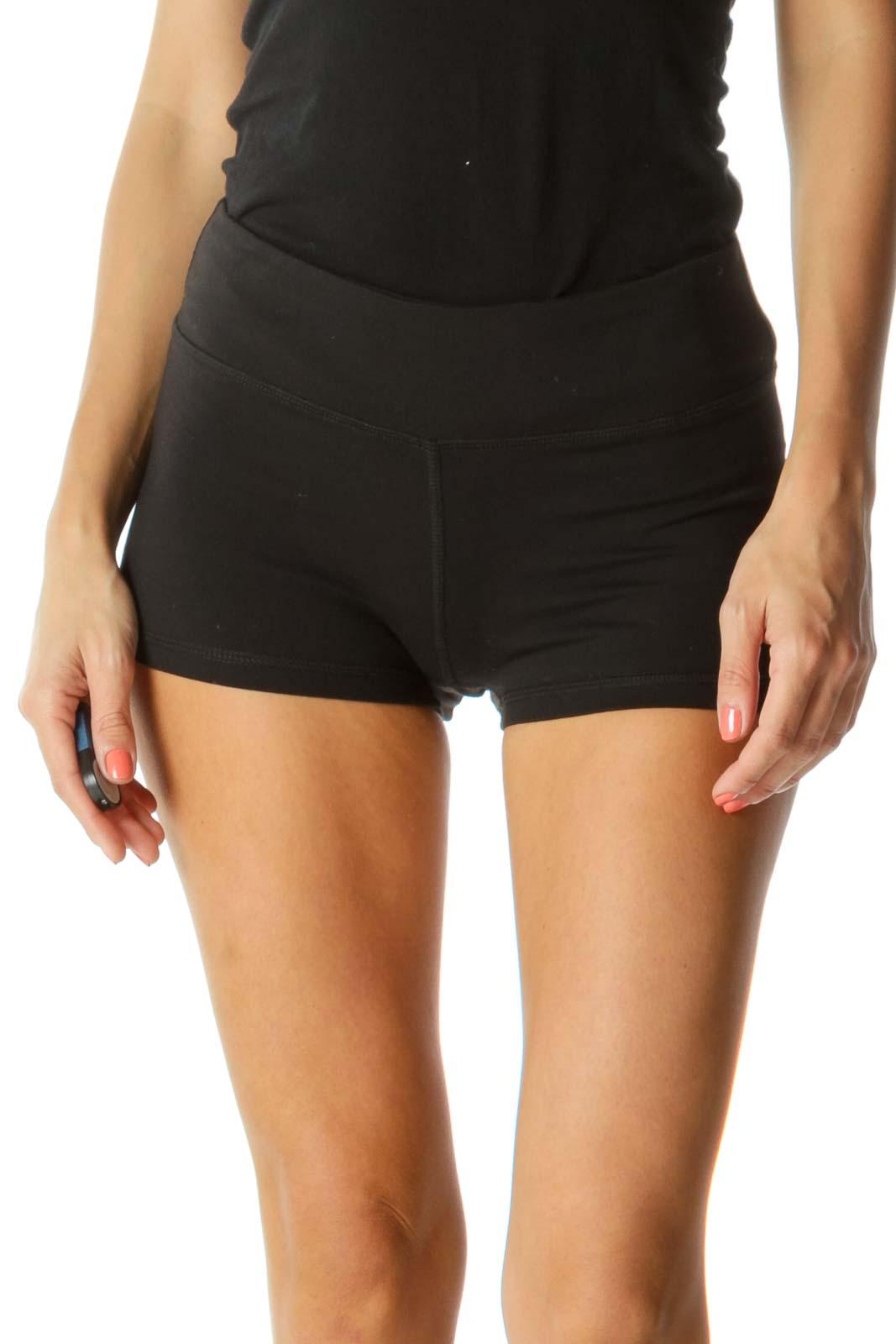 Black Mini Sport Shorts with Inside Hidden Hip Pocket